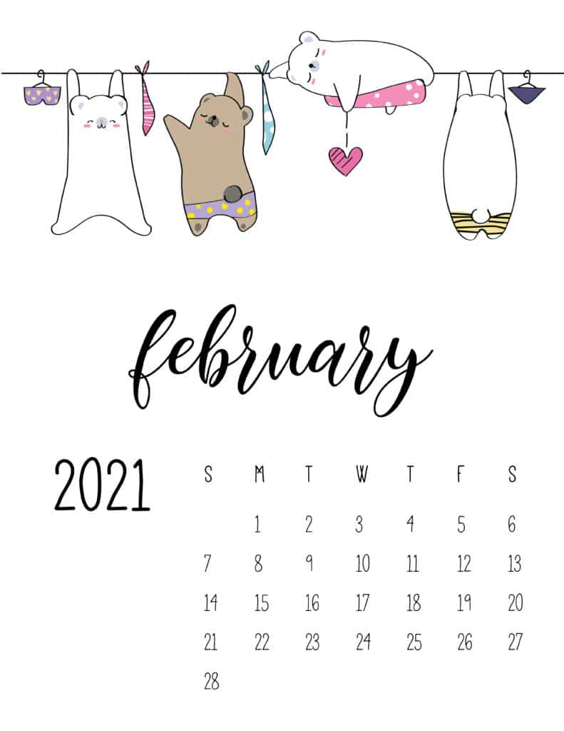 Calendar February 2021 - 68 Stunning Printable Calendars