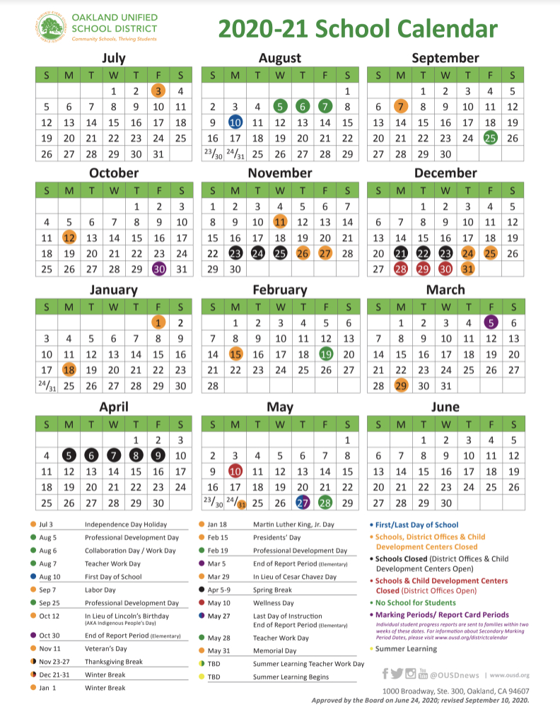 California State Payday Calendar 2021