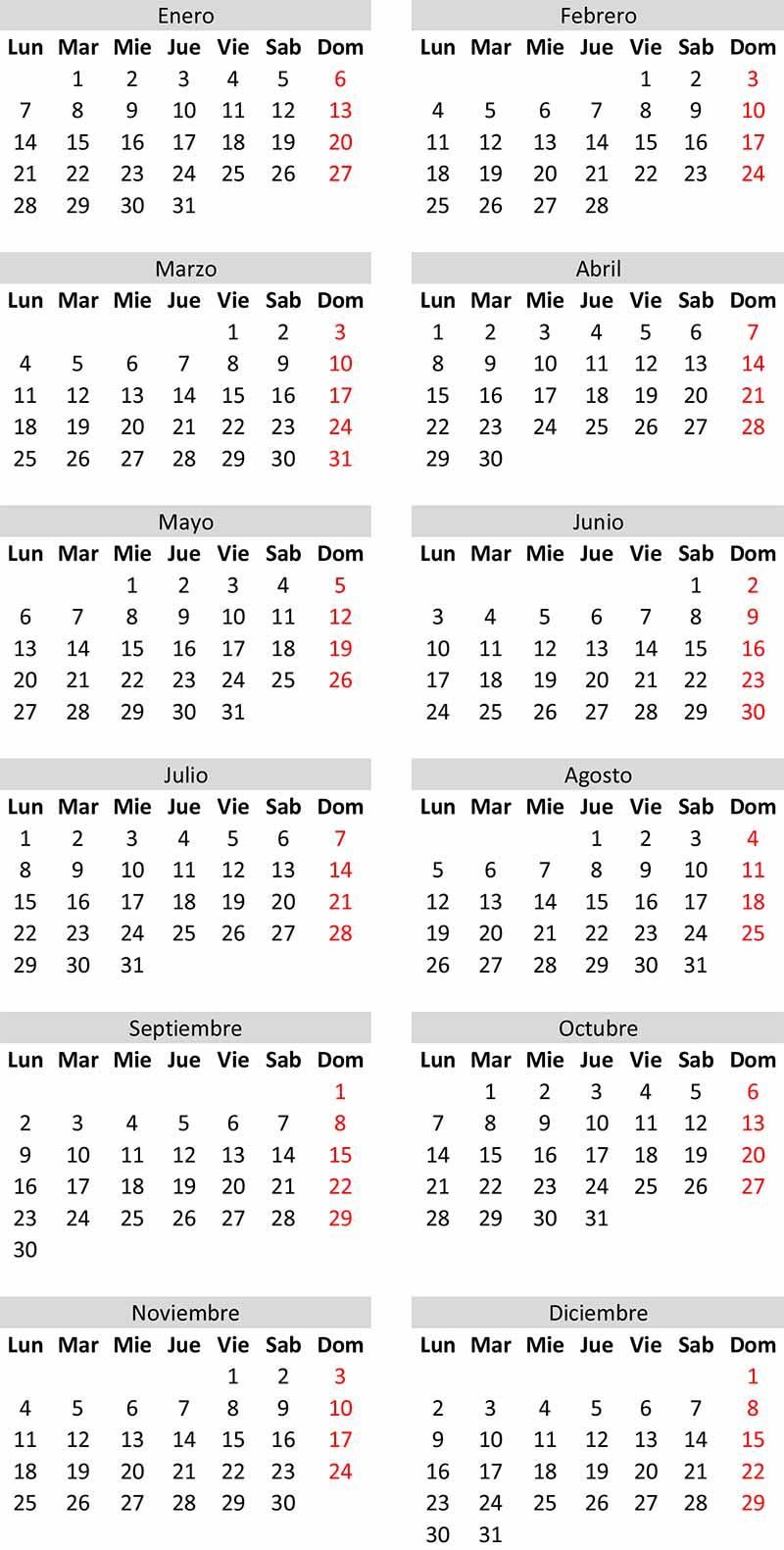 Crea Calendario Juliano 2021