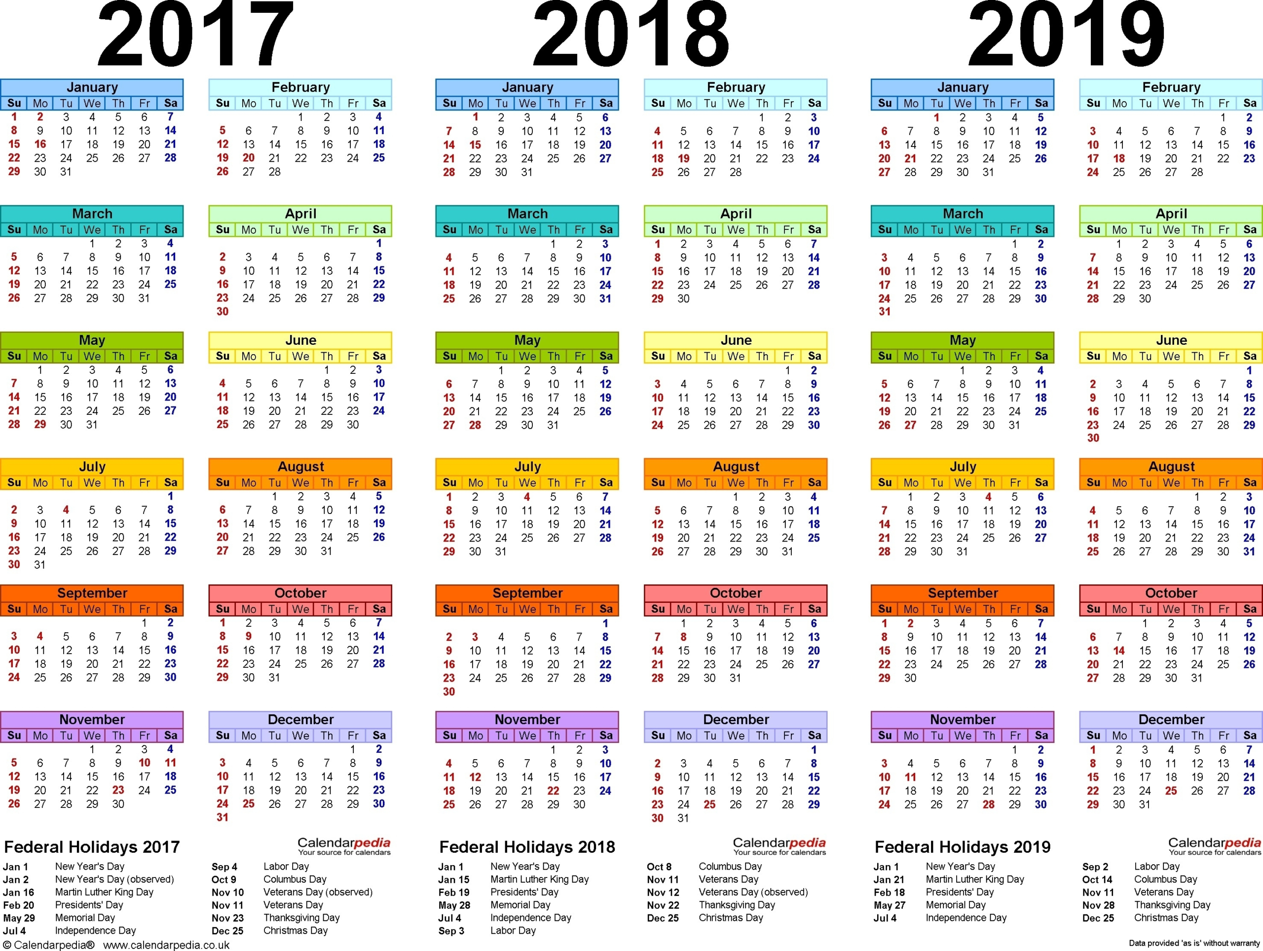 Depo Scheduling Chart 2021