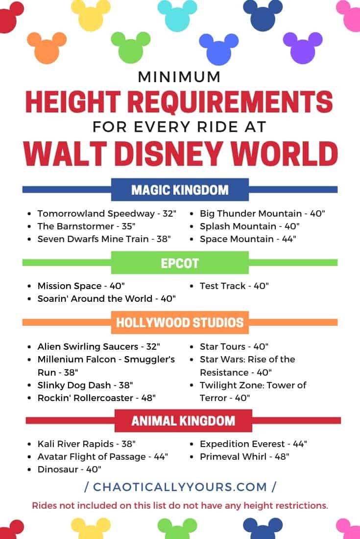 Disney Height Requirements For Every Single Ride At Wdw
