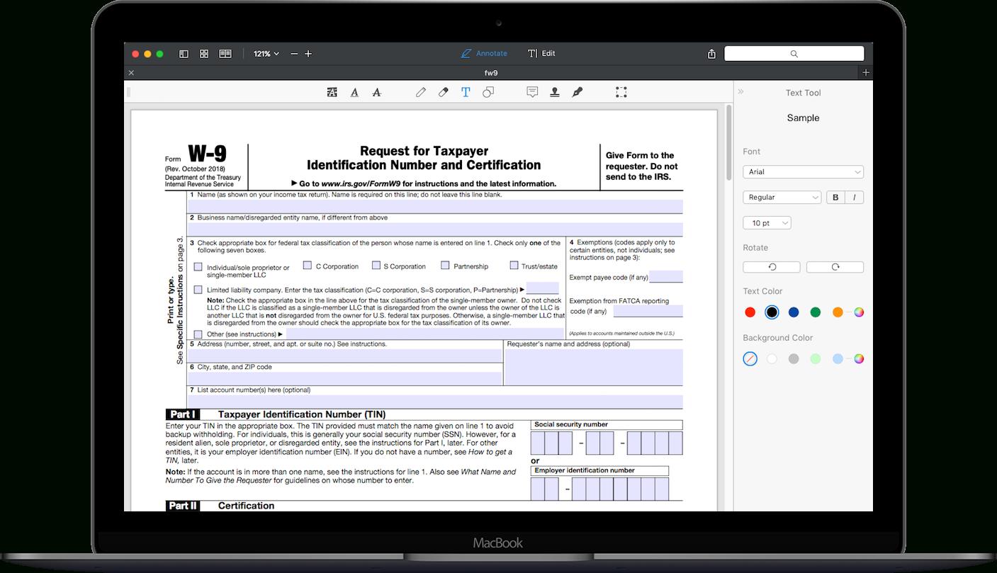 如何填写Irs 表单W-9 2018-2020