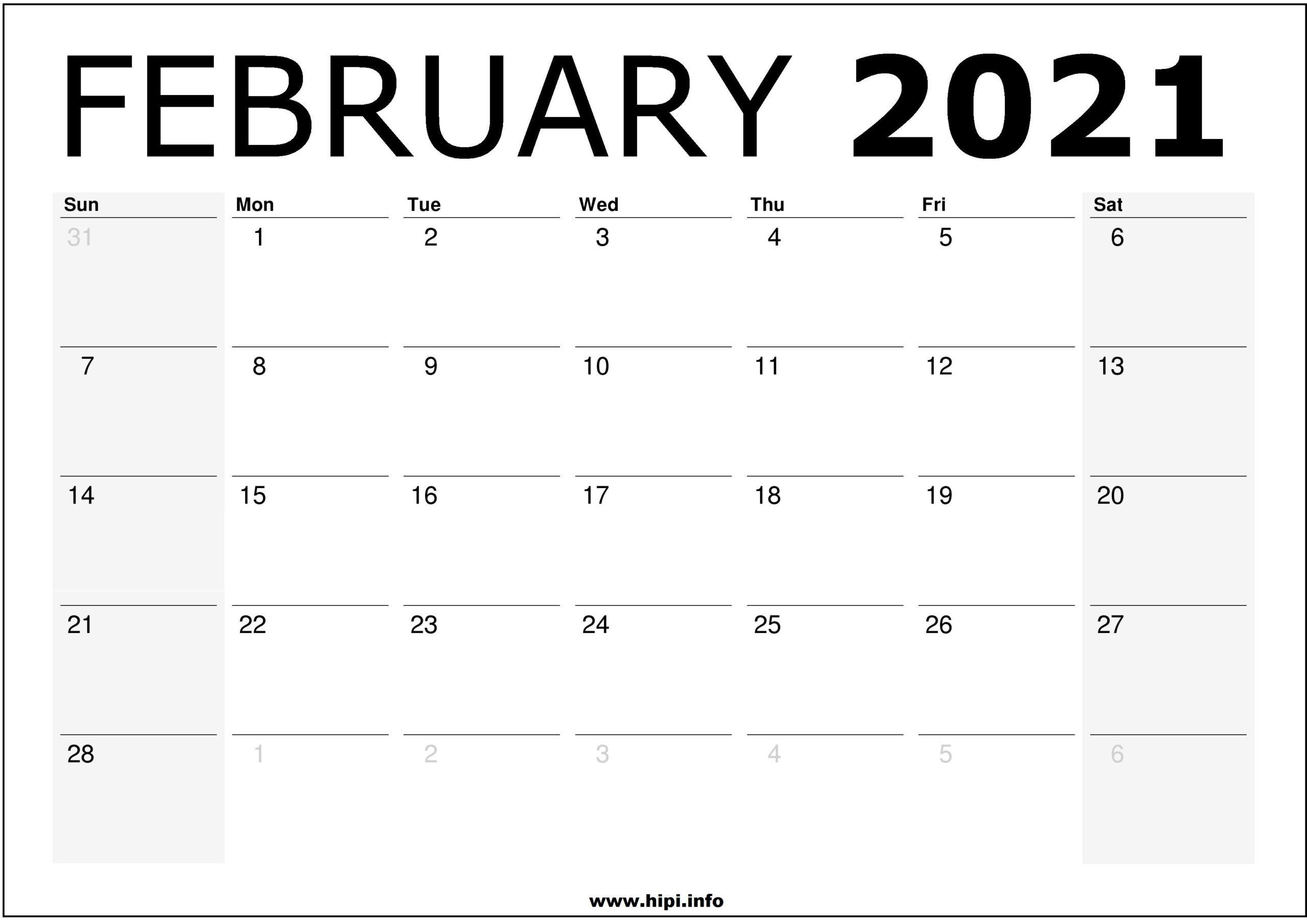 February 2021 Calendar Wallpapers - Top Free February 2021