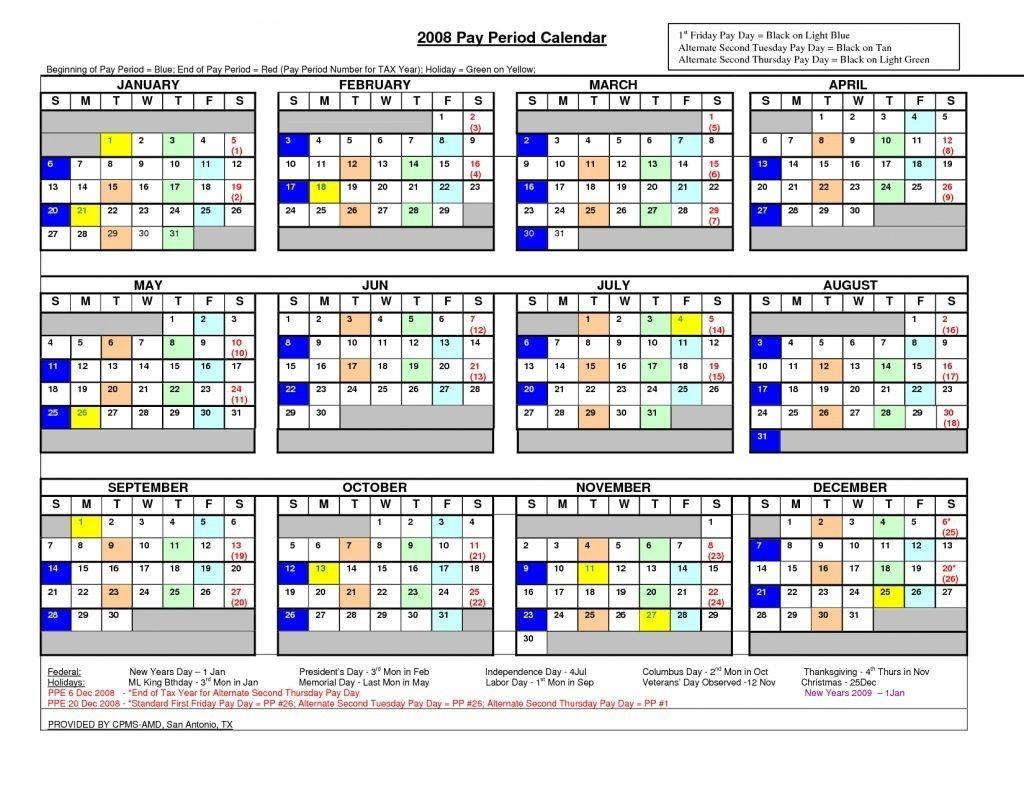 Federal Pay Period Calendar For 2020