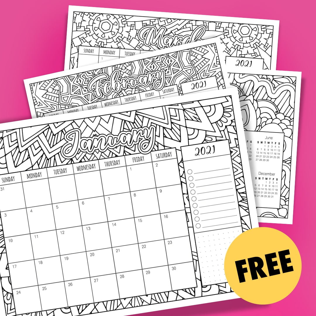 Free Printable 2021 Calendars - Crafting In The Rain