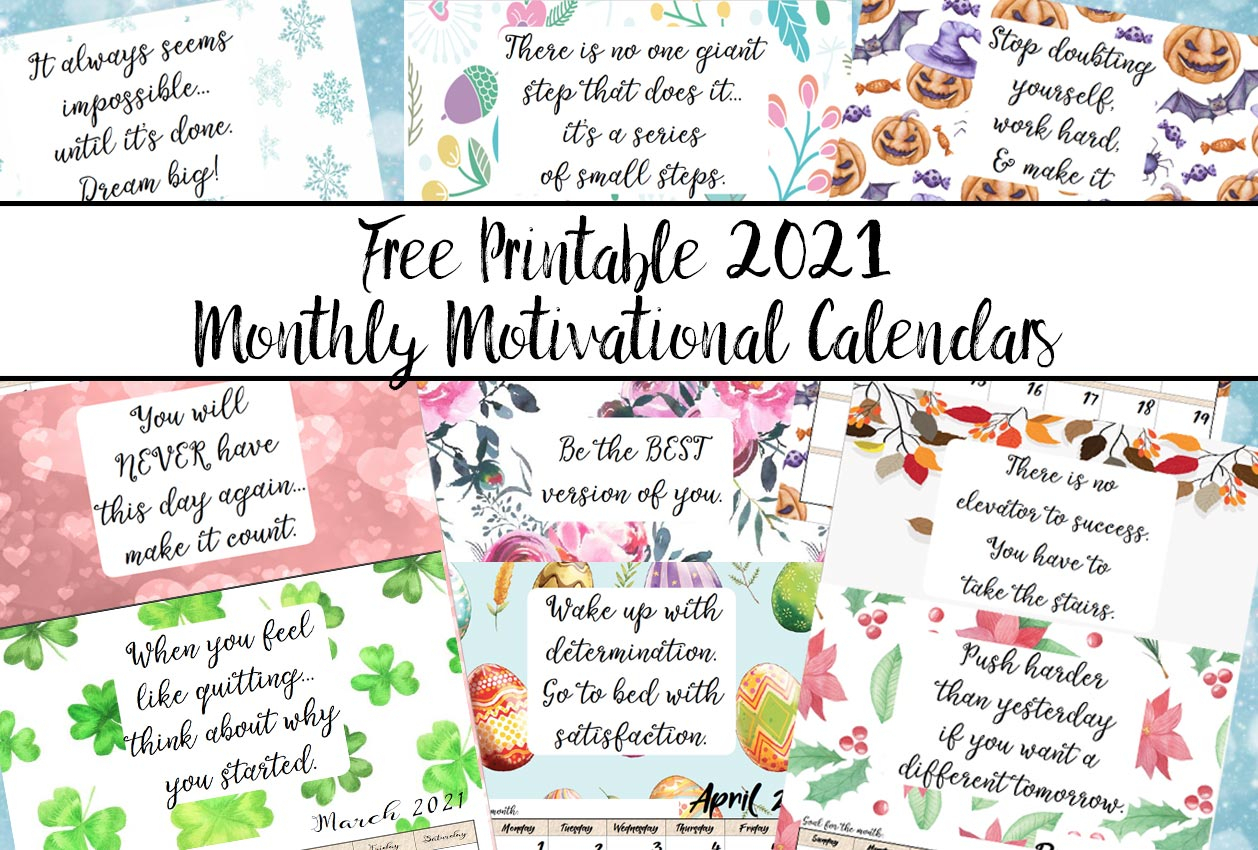 Free Year By Month Printable Calendar 2021