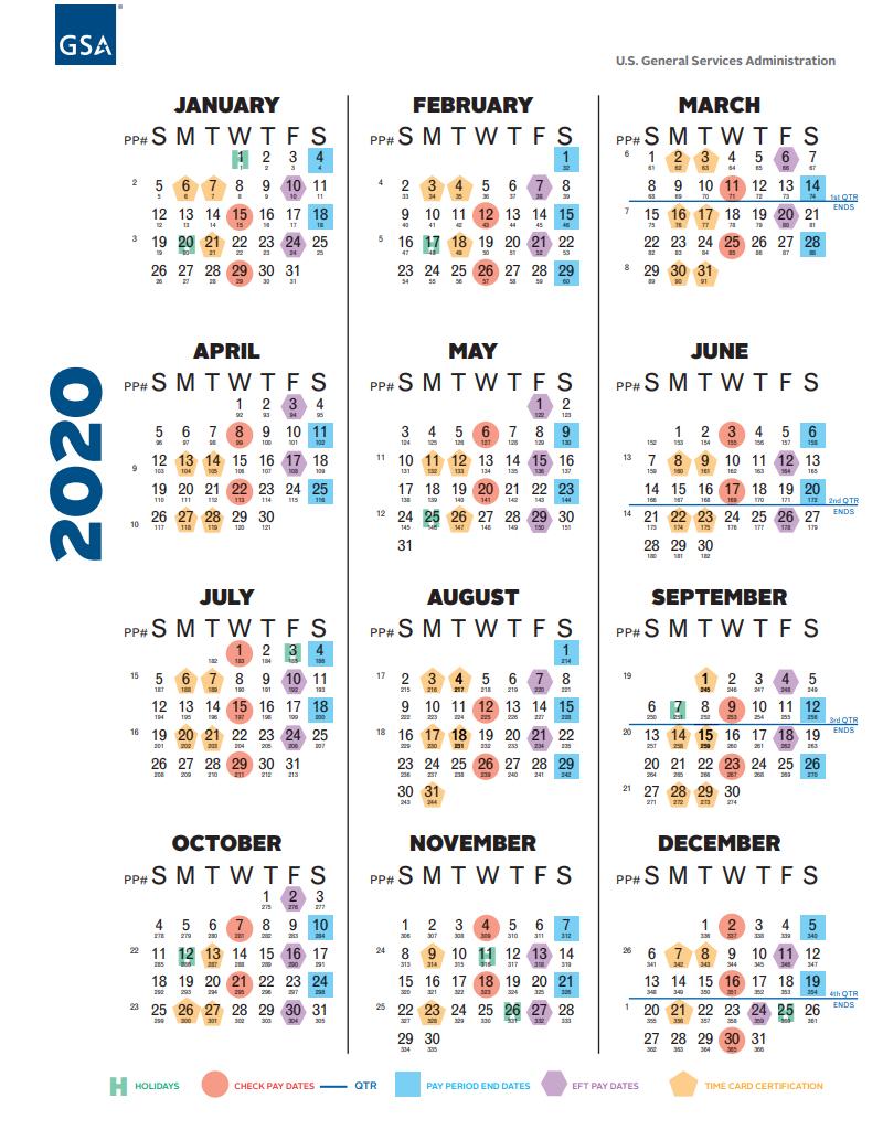 Government Pay Period (Payroll) Calendar 2021