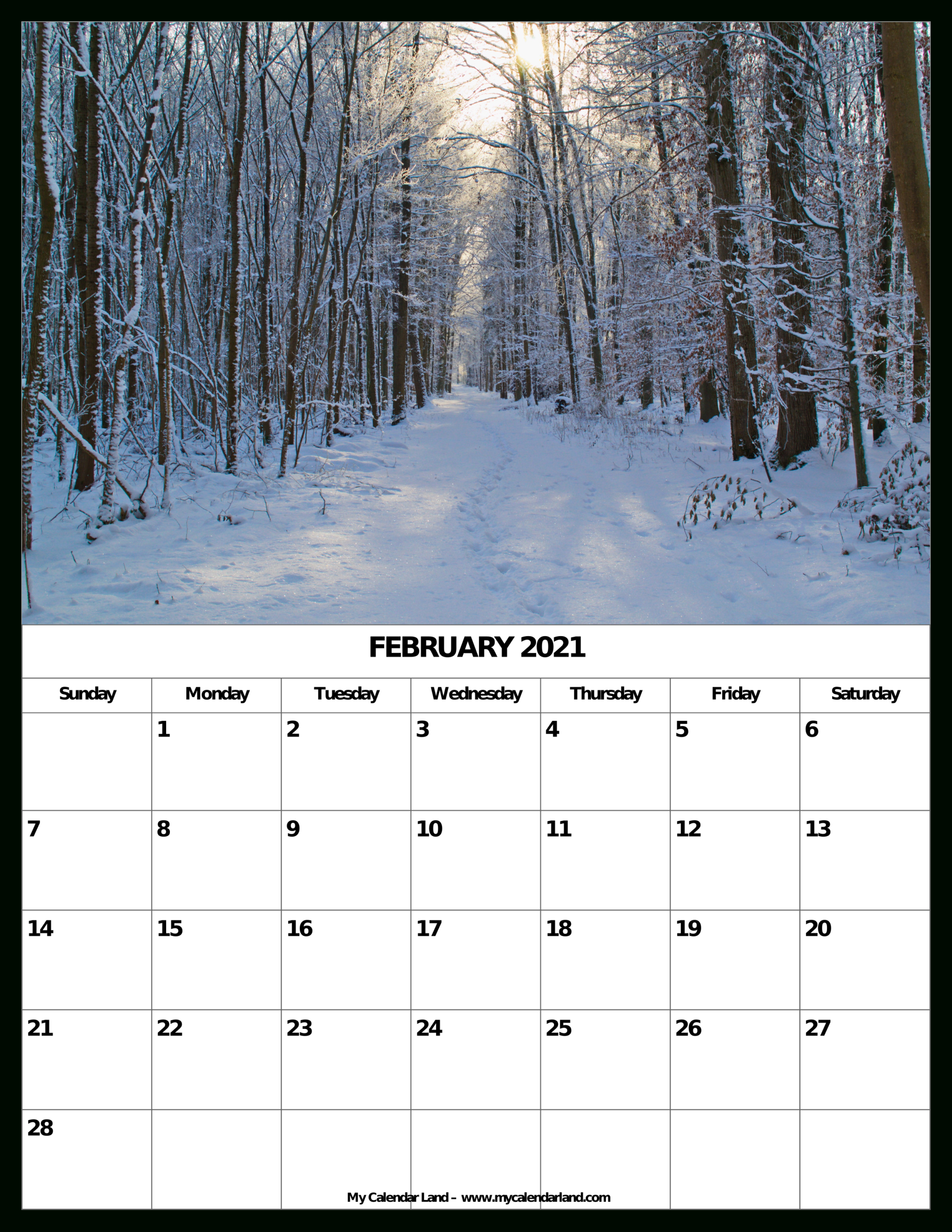 March 2021 Calendar Printable Org