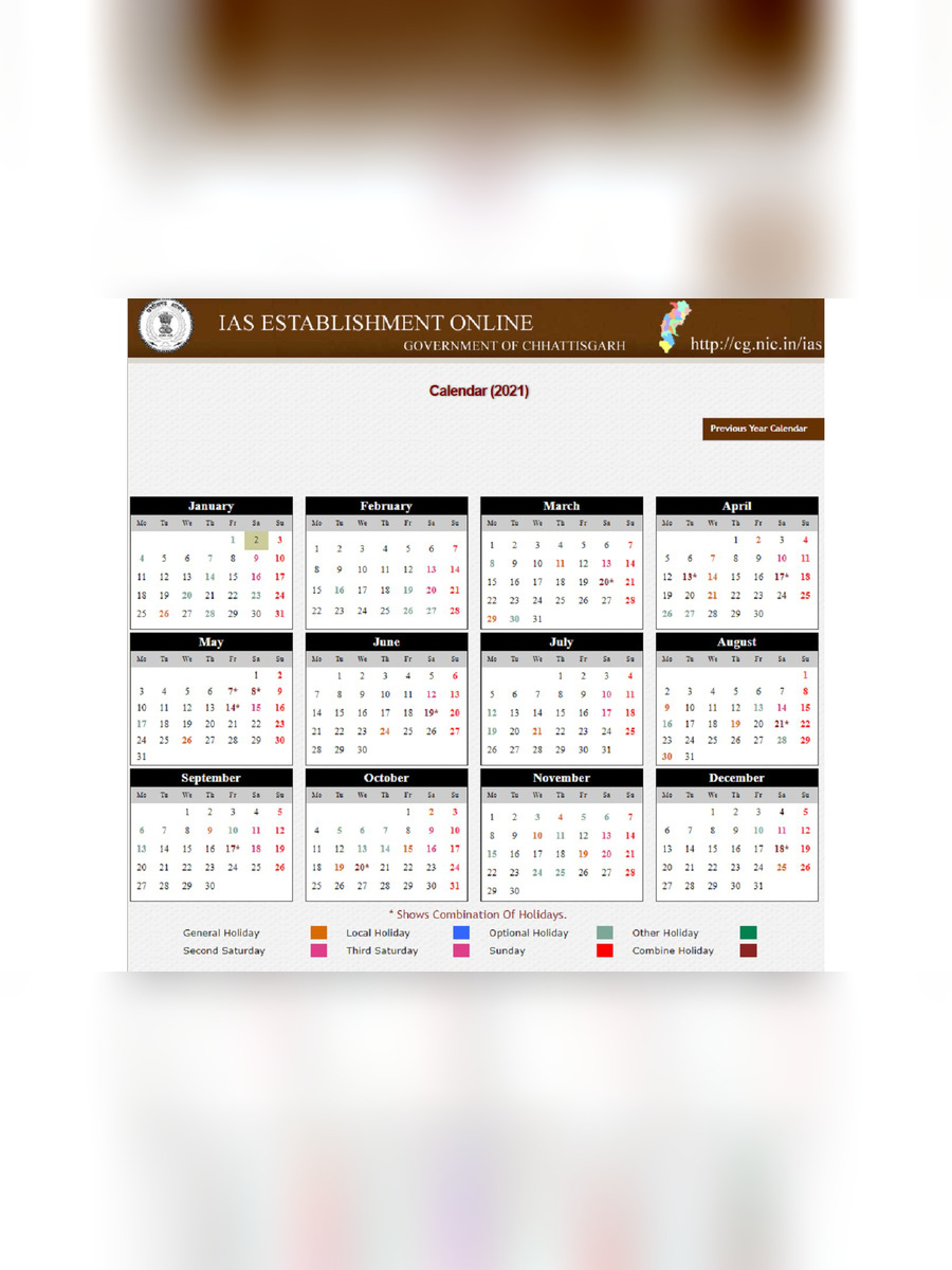 [%Pdf] Chhattisgarh Holiday List 2021 Pdf Download – Instapdf|2021 Government Calendars|2021 Government Calendars%]