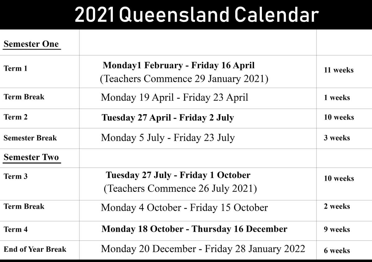Qld School Holidays 2021