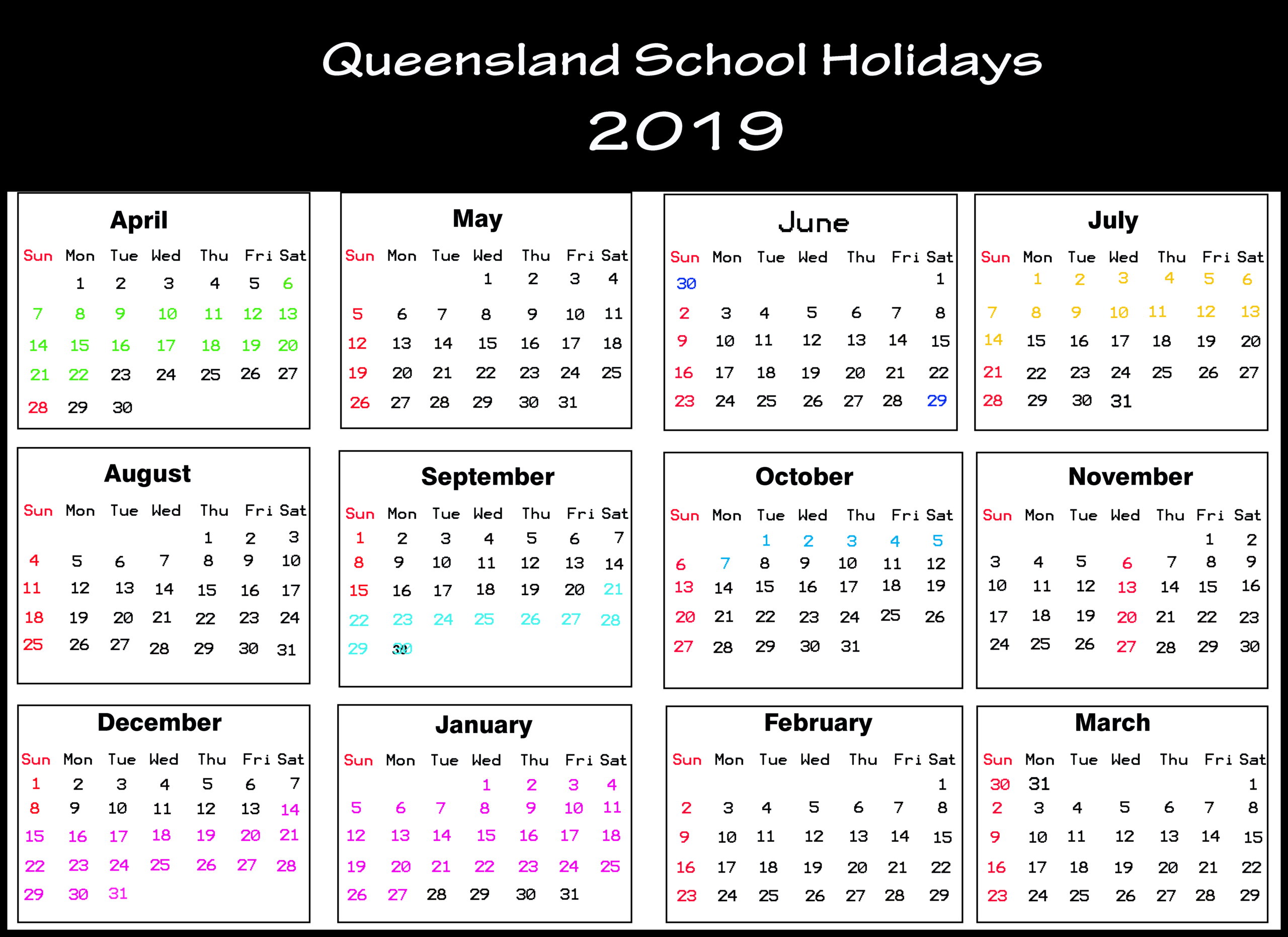 [%Qld School Holidays Calendar 2019 [Holiday Dates 2019]|Qld School Holidays 2021|Qld School Holidays 2021%]