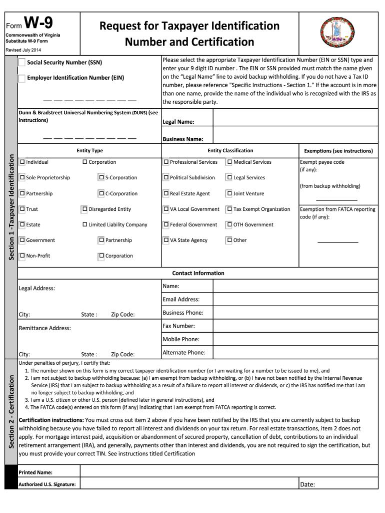 W-9 Form 2021 Printable Pdf