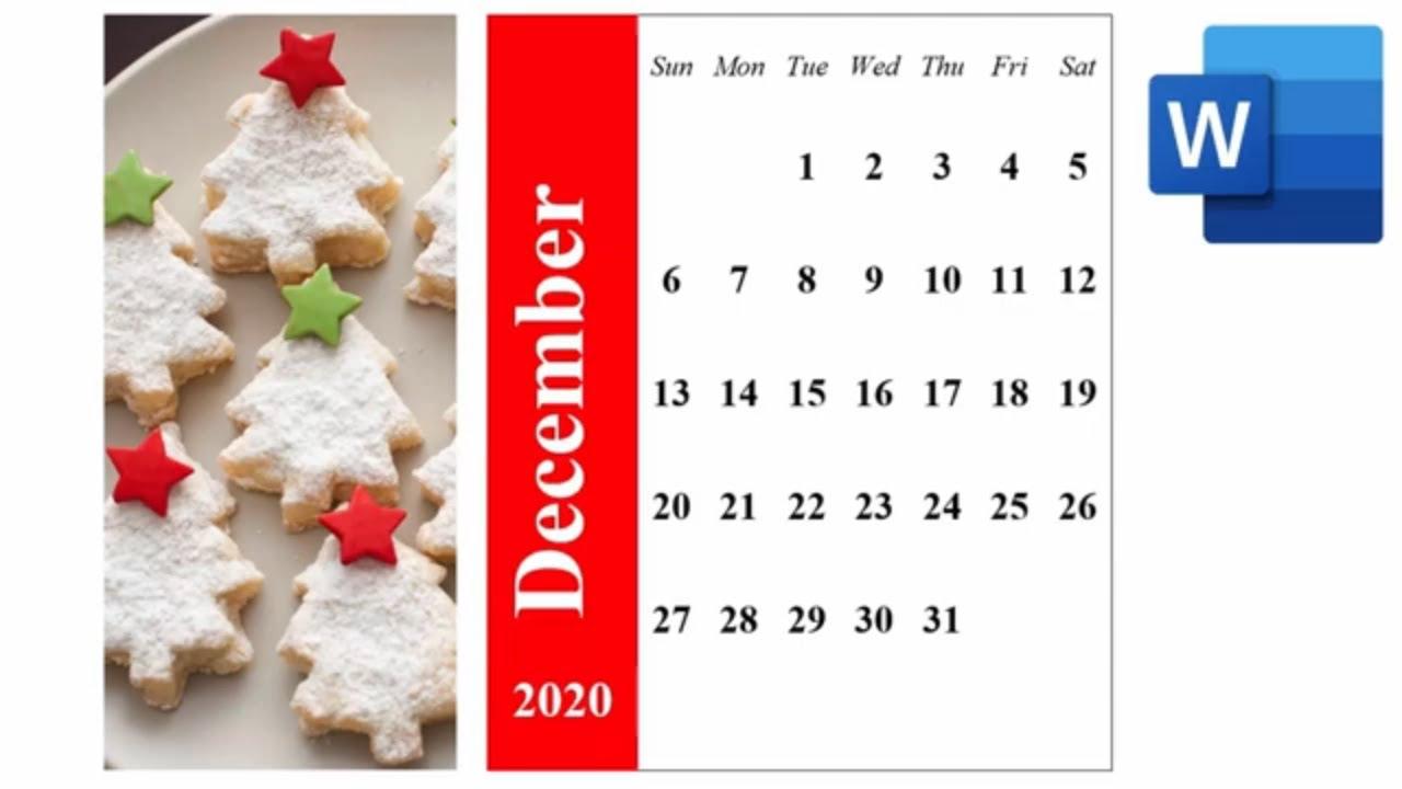Word 365 - 2021 Monthly Calendar - Calendar Wizard In Word 365