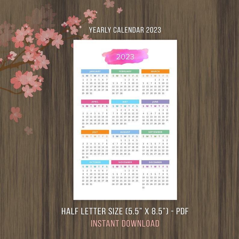 2 Year Calendar 2022 And 2023