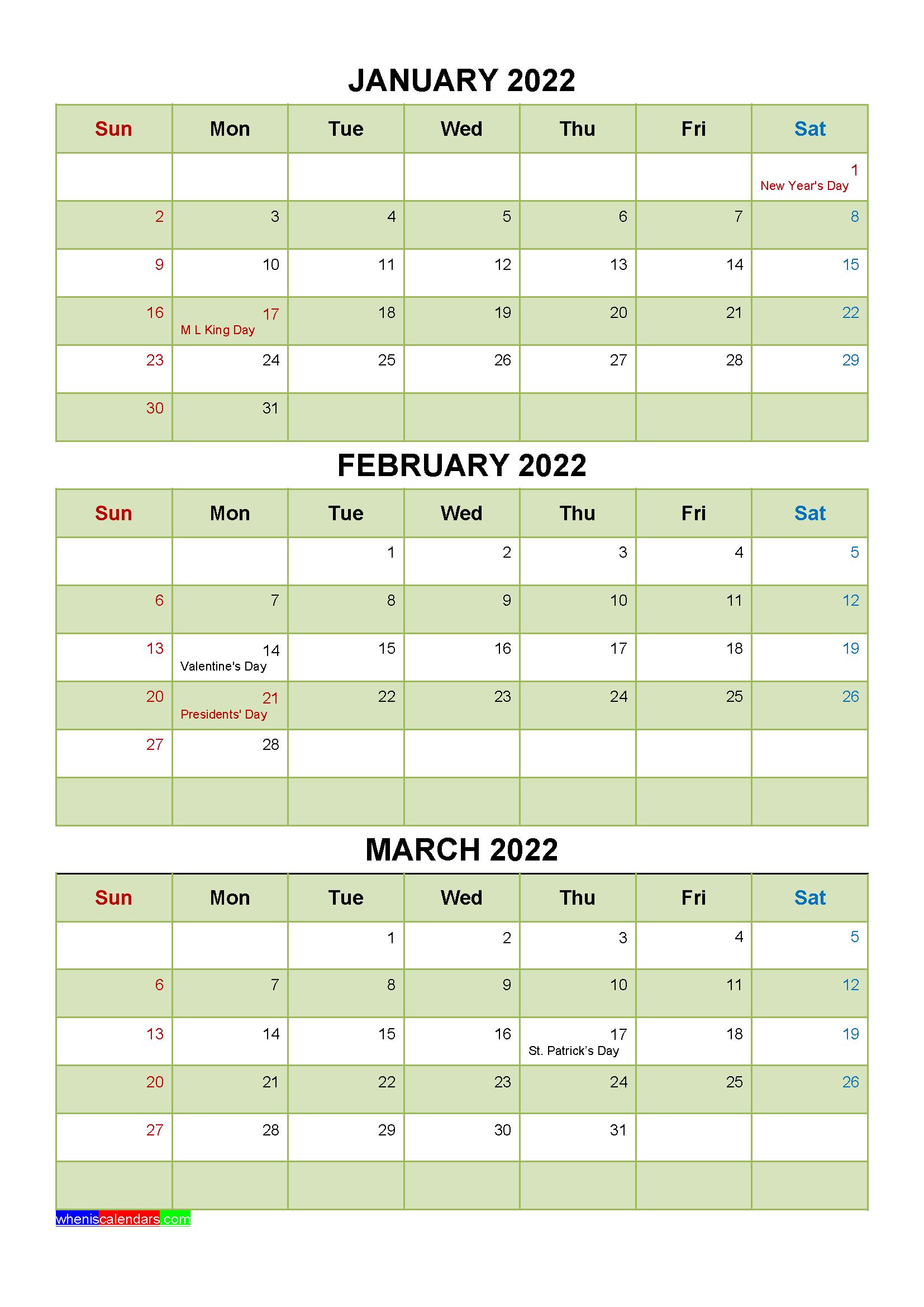 20+ Federal Holidays 2022 - Free Download Printable