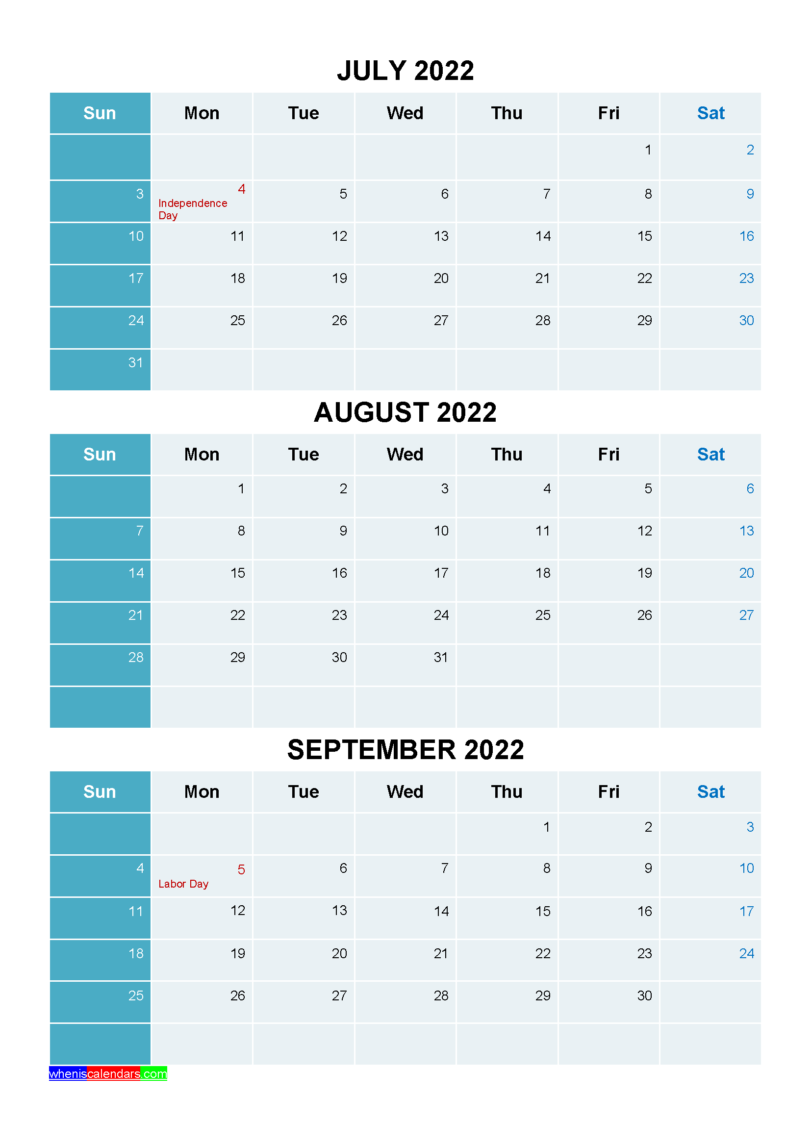 20+ Holidays For 2022 - Free Download Printable Calendar Templates ️