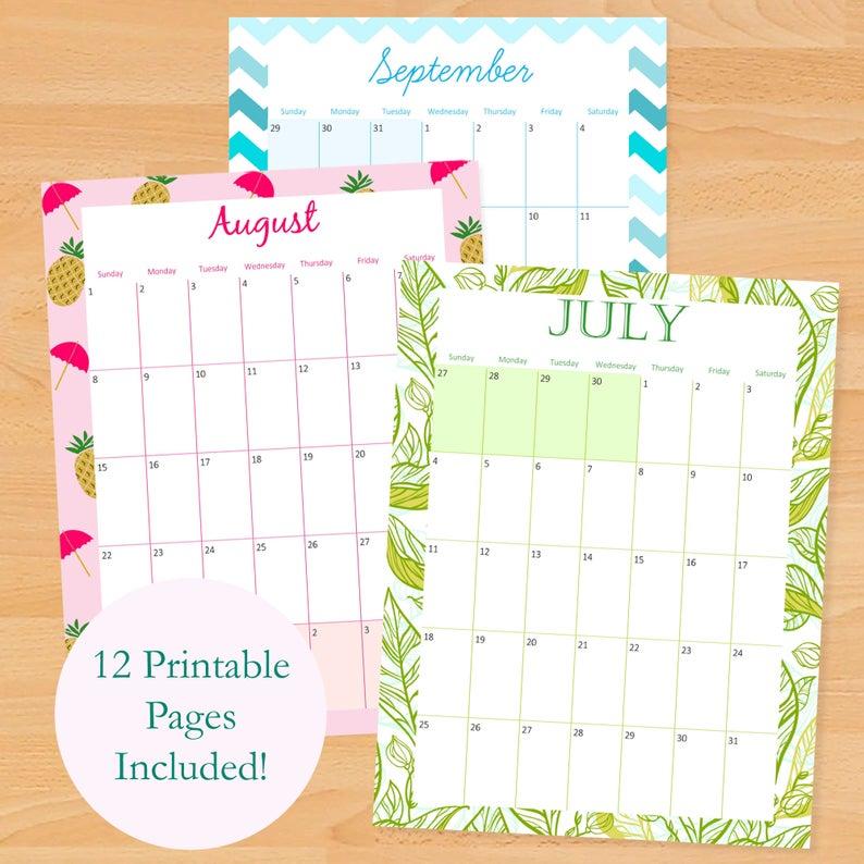 2021 2022 Printable Monthly Calendar 2021 2022 Printable