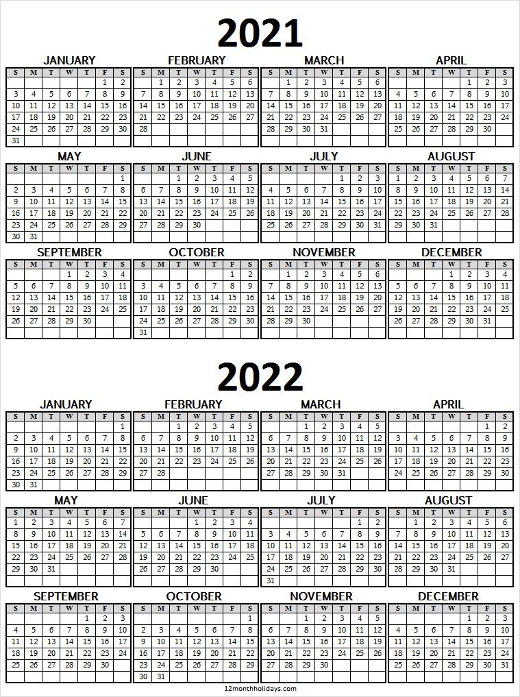 2021 And 2022 Calendar Canada Free - Calendar With Holidays