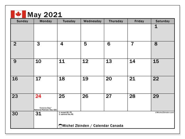 2021 And 2022 Calendar Canada