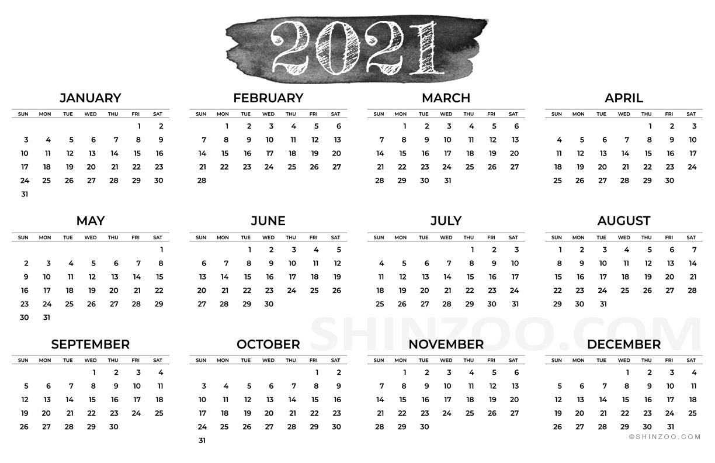 2021 Calendar Printable 11×17 Planner Template 1