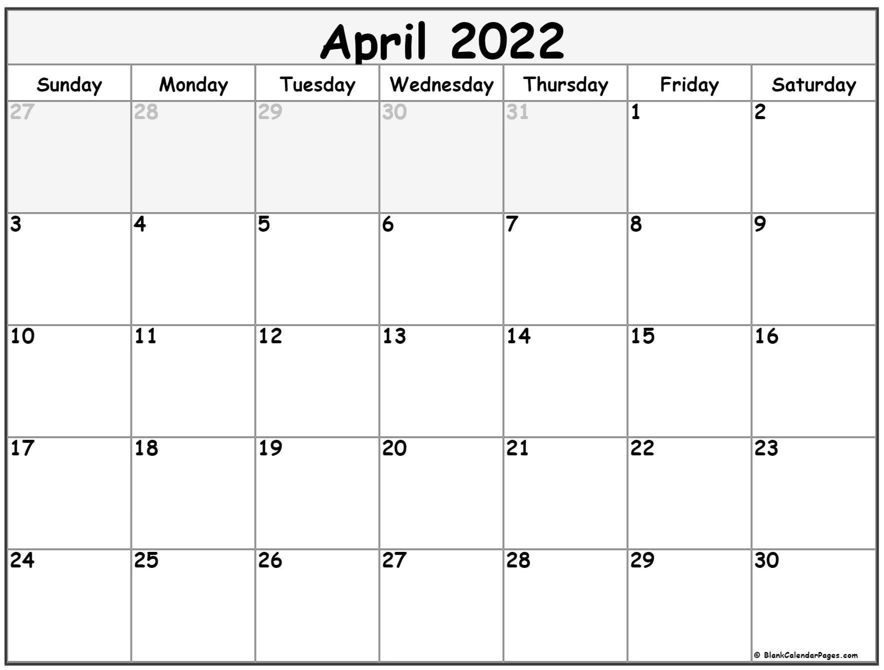 2022 April Telugu Calendar