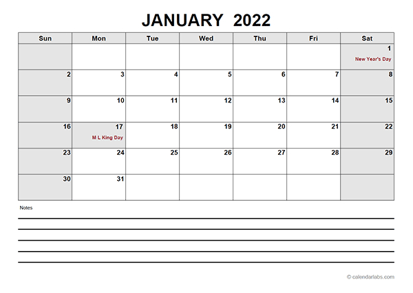2022 Blank Calendar Pdf - Free Printable Templates