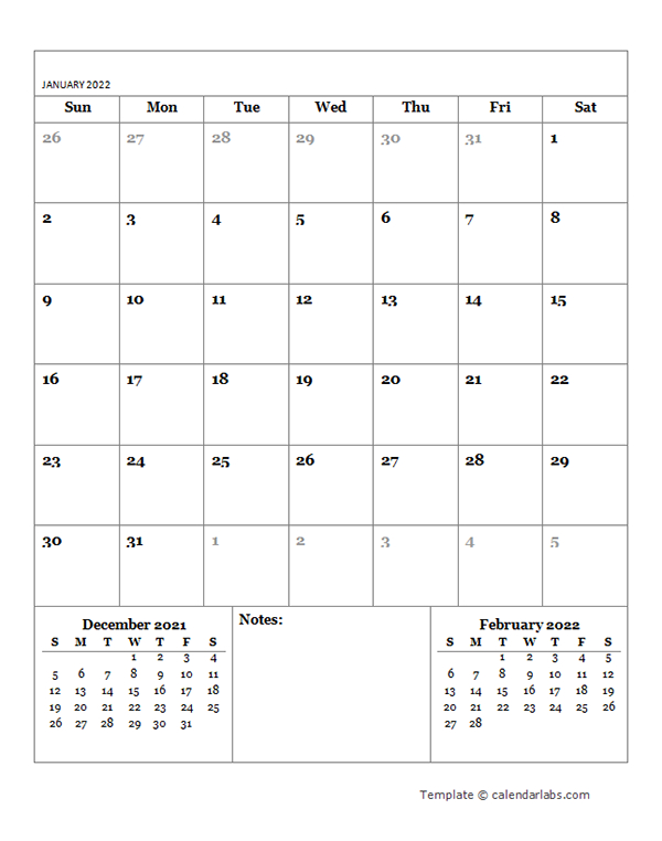 2022 Blank Monthly Planner - Free Printable Templates