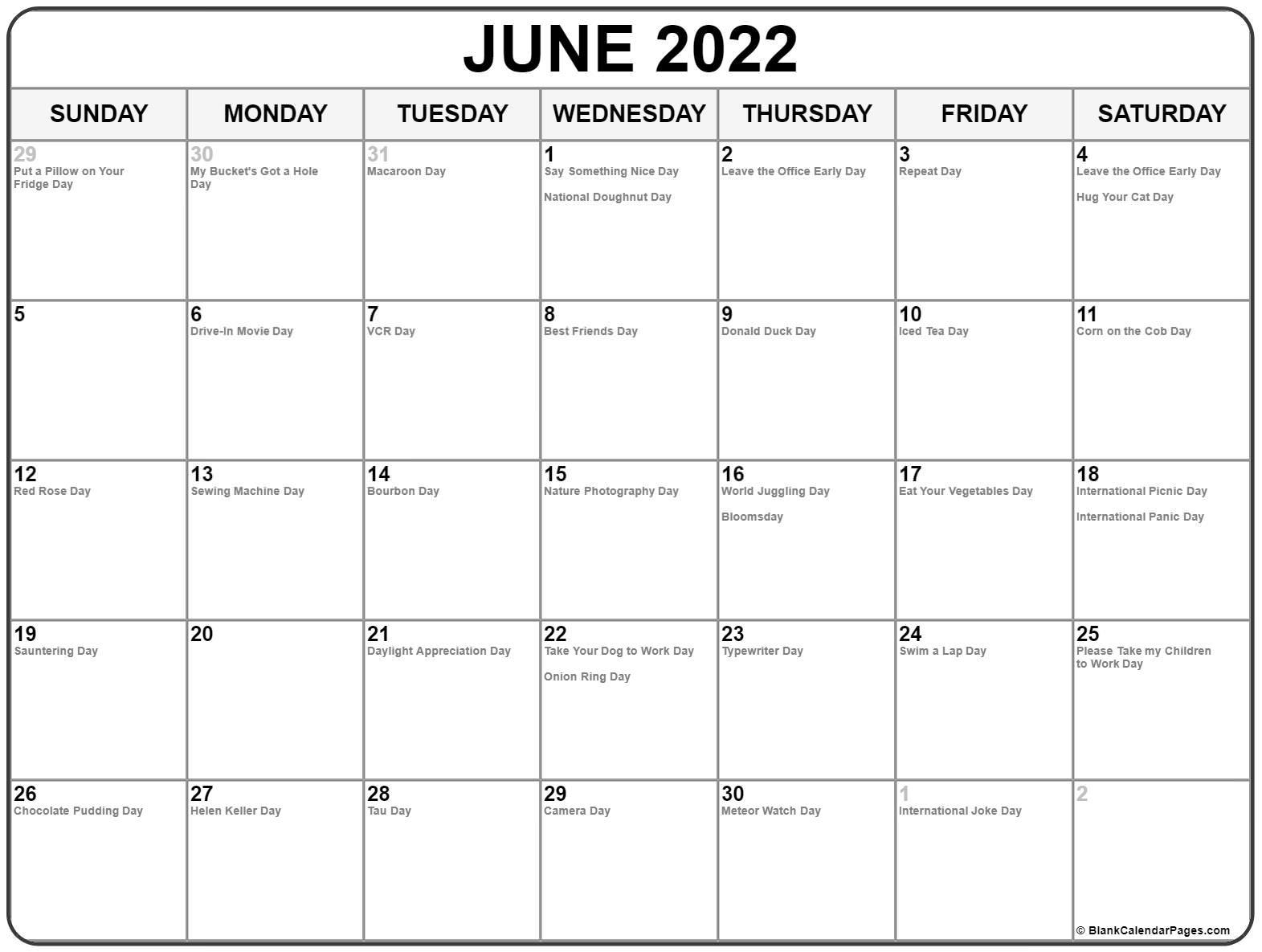 2022 Calendar Including Bank Holidays
