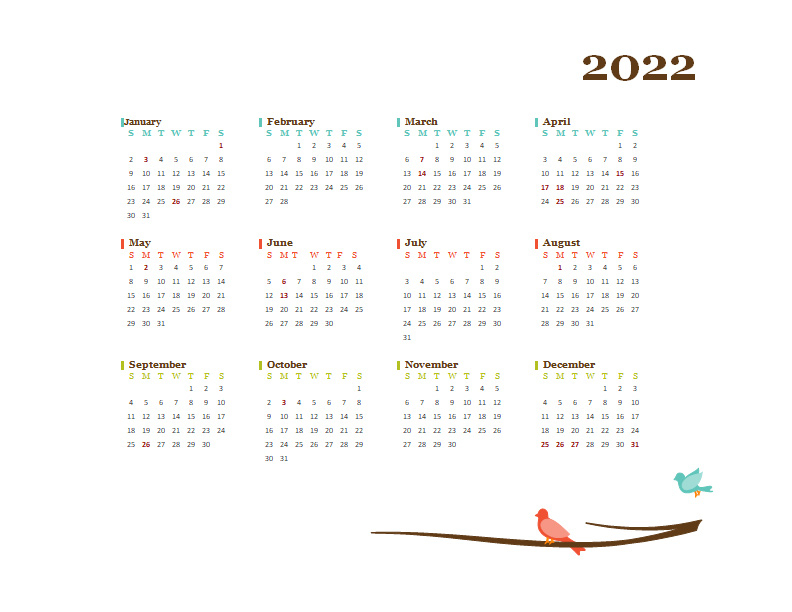 2022 Calendar Malaysia With Holidays