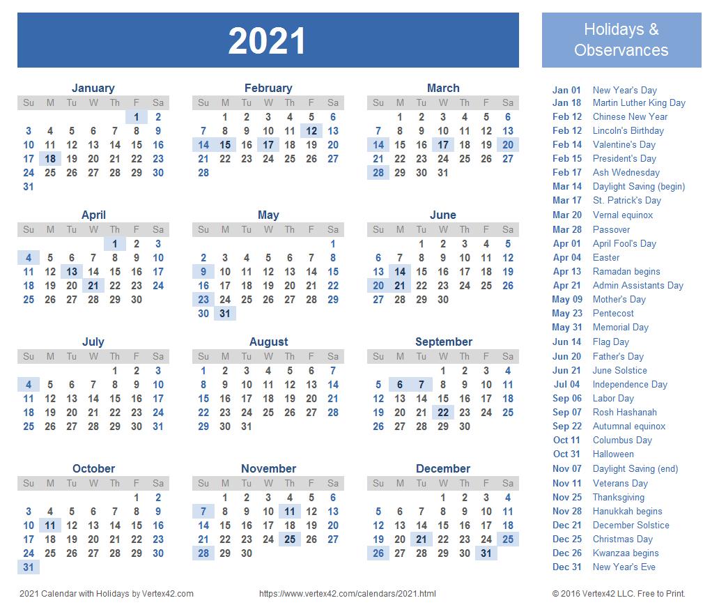 2022 Calendar Printable With Holidays Malaysia
