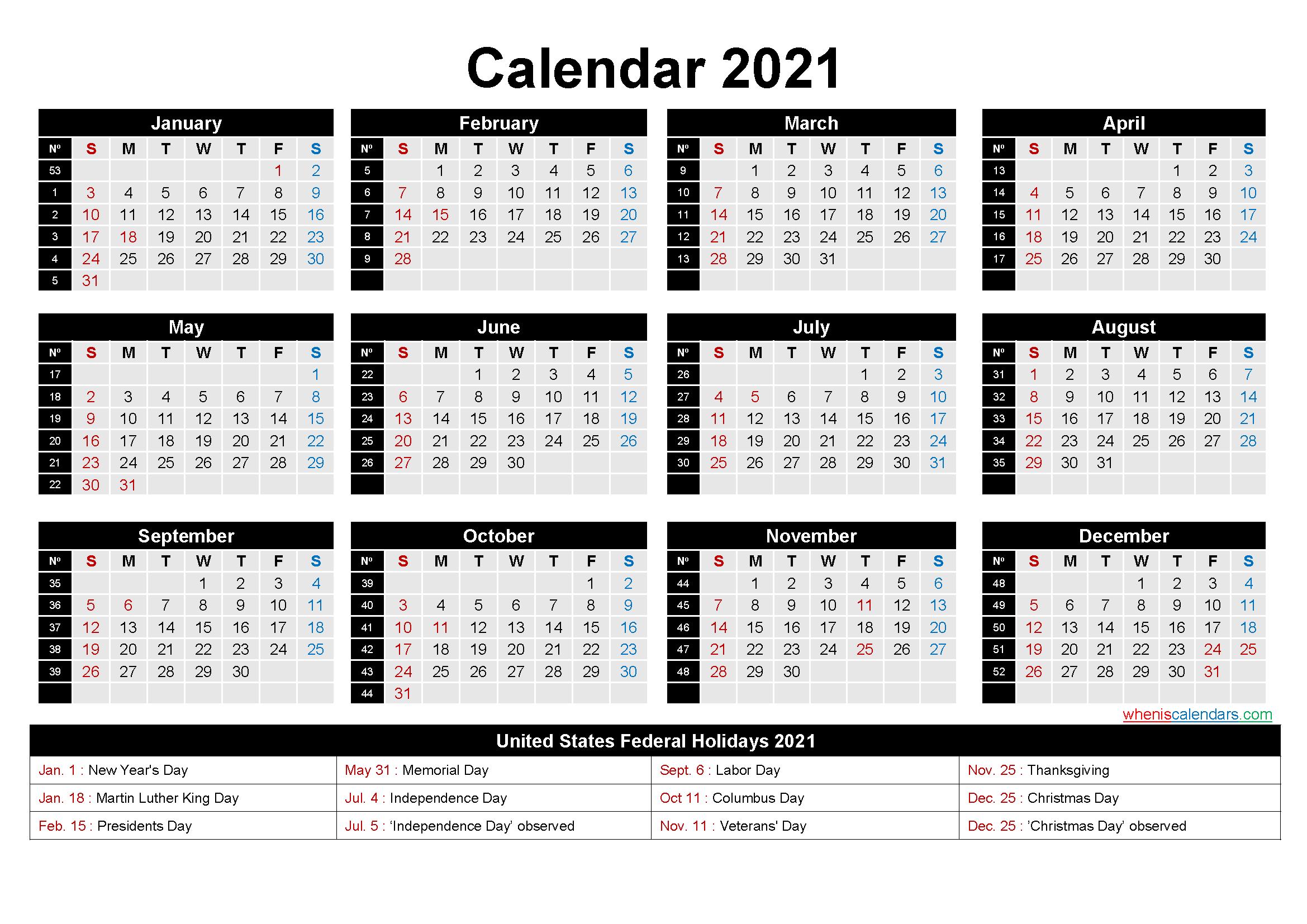 2022 Calendar With Week Numbers Excel