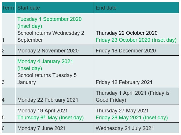 Admissions & Term Dates - Thameside Primary School