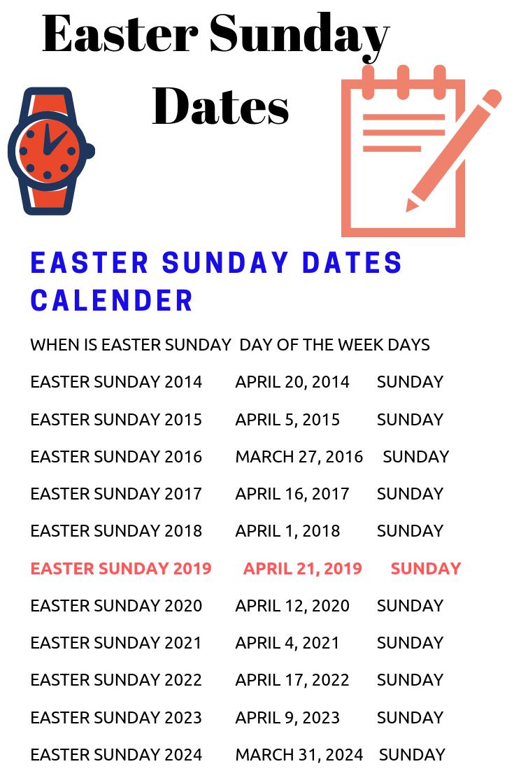 April 2022 Calendar Easter