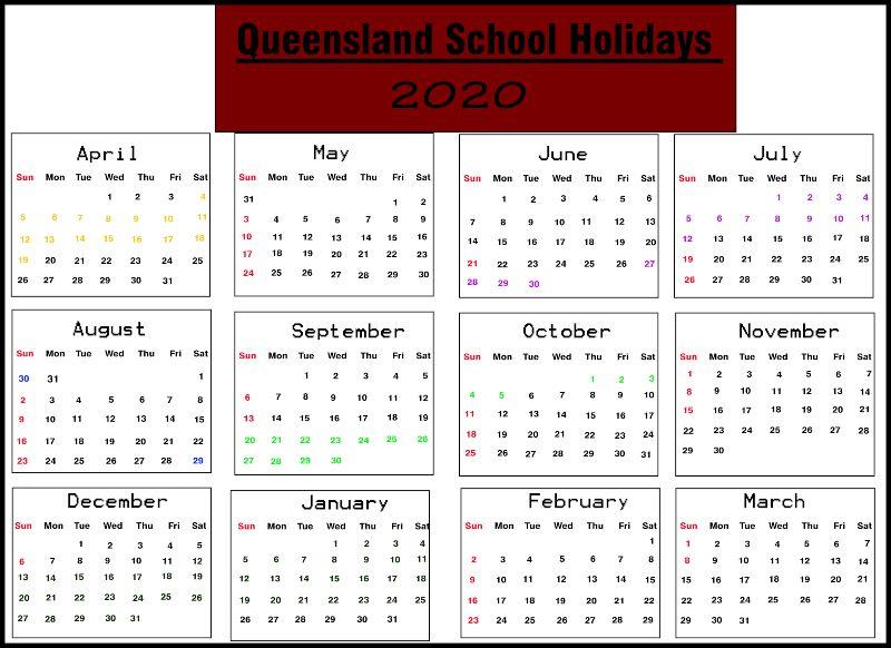Australia School Calendar 2022