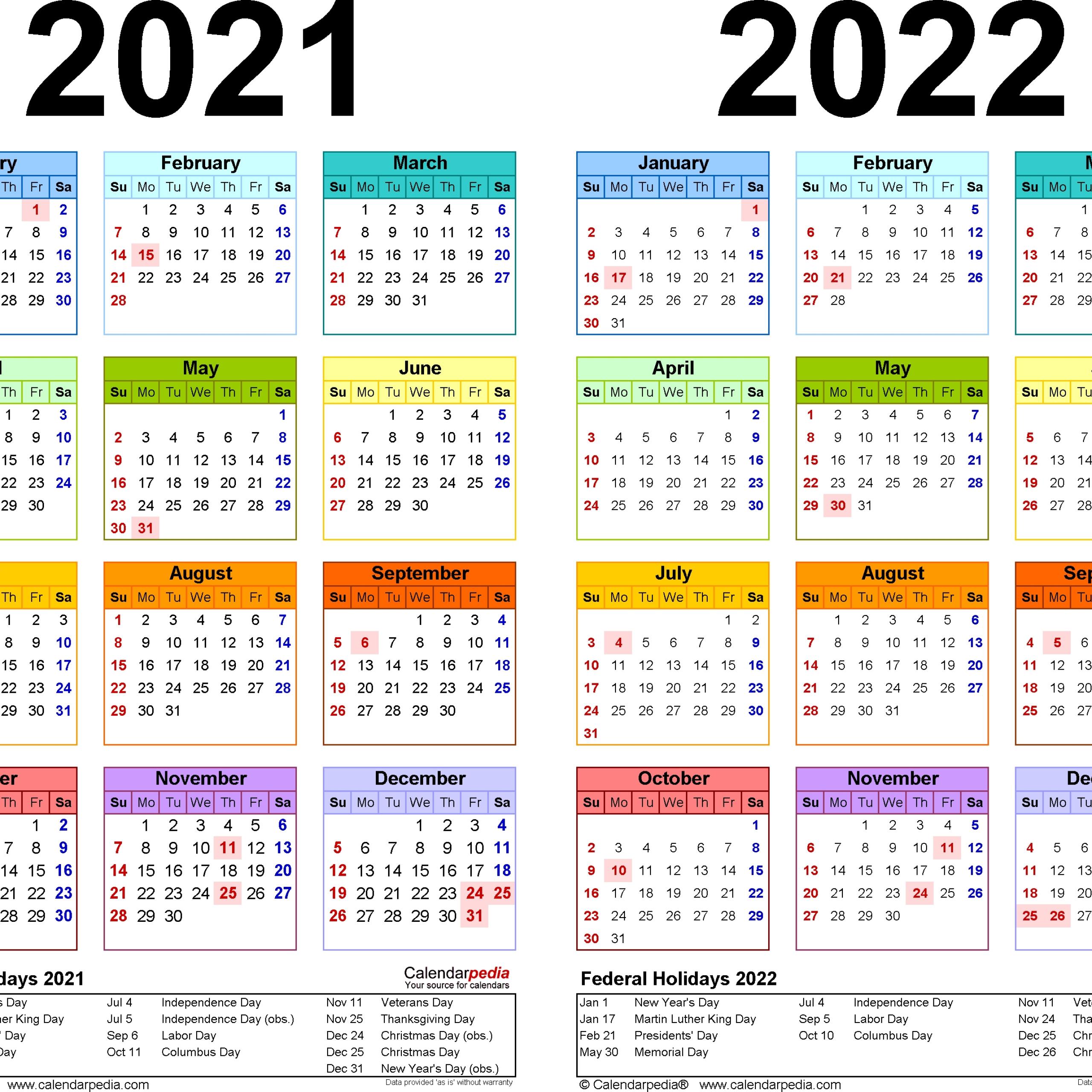 Calendar 2021 South Africa Holidays