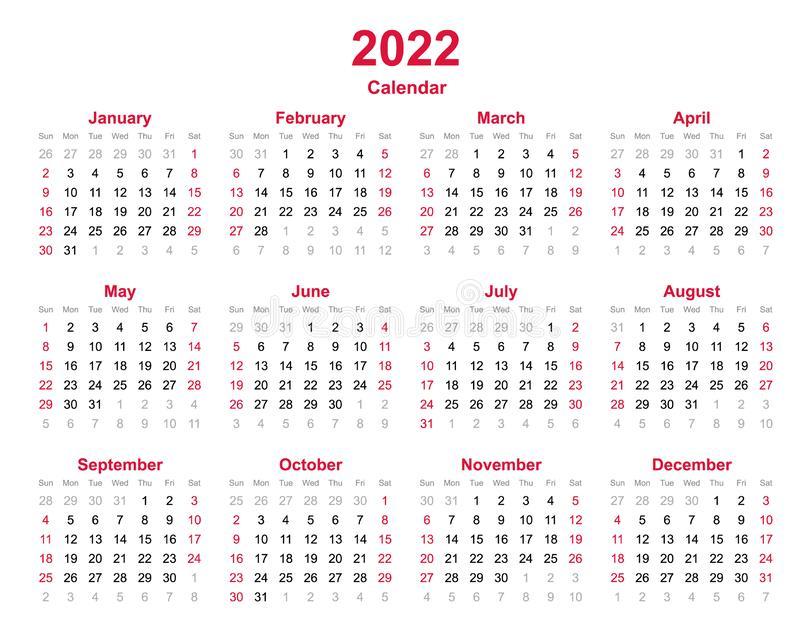 Calendar 2022 Excel Free Download