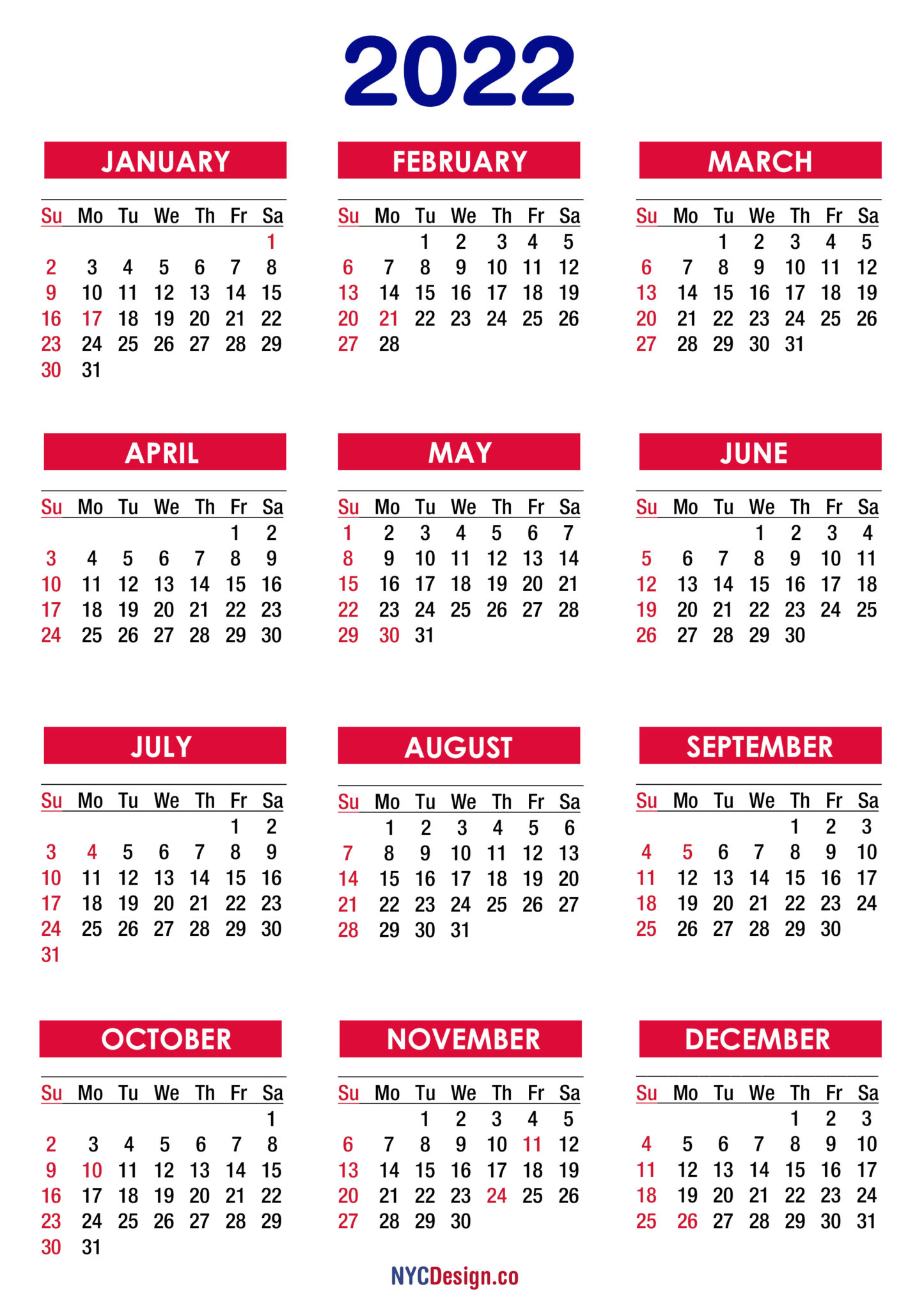 Calendar 2022 Free Download