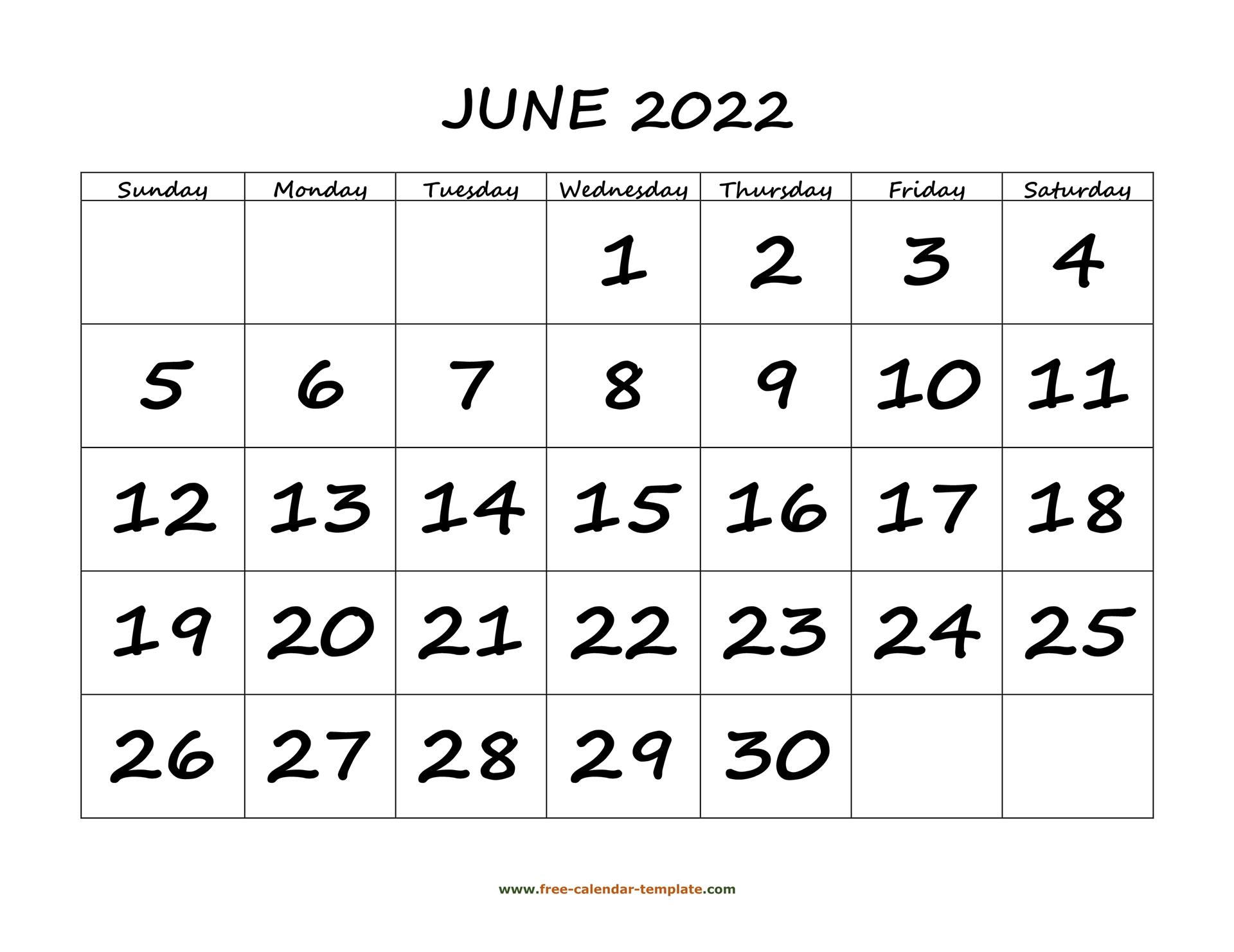 Calendar 2022 Template Word