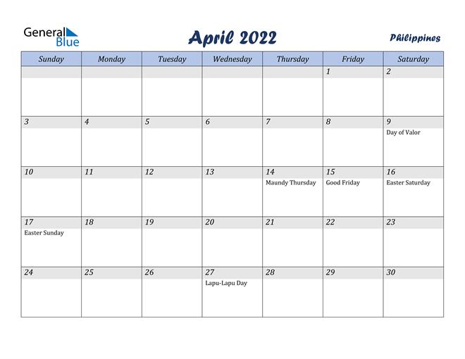 Calendar April 2022 Nz