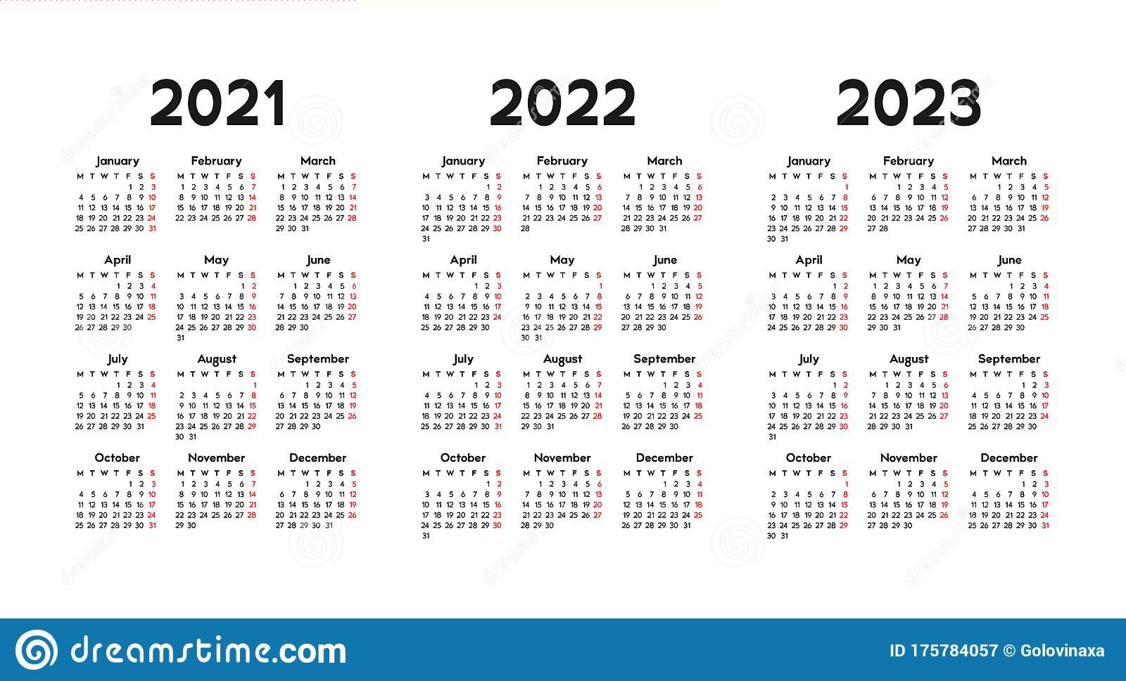 Calendar Days In 2022
