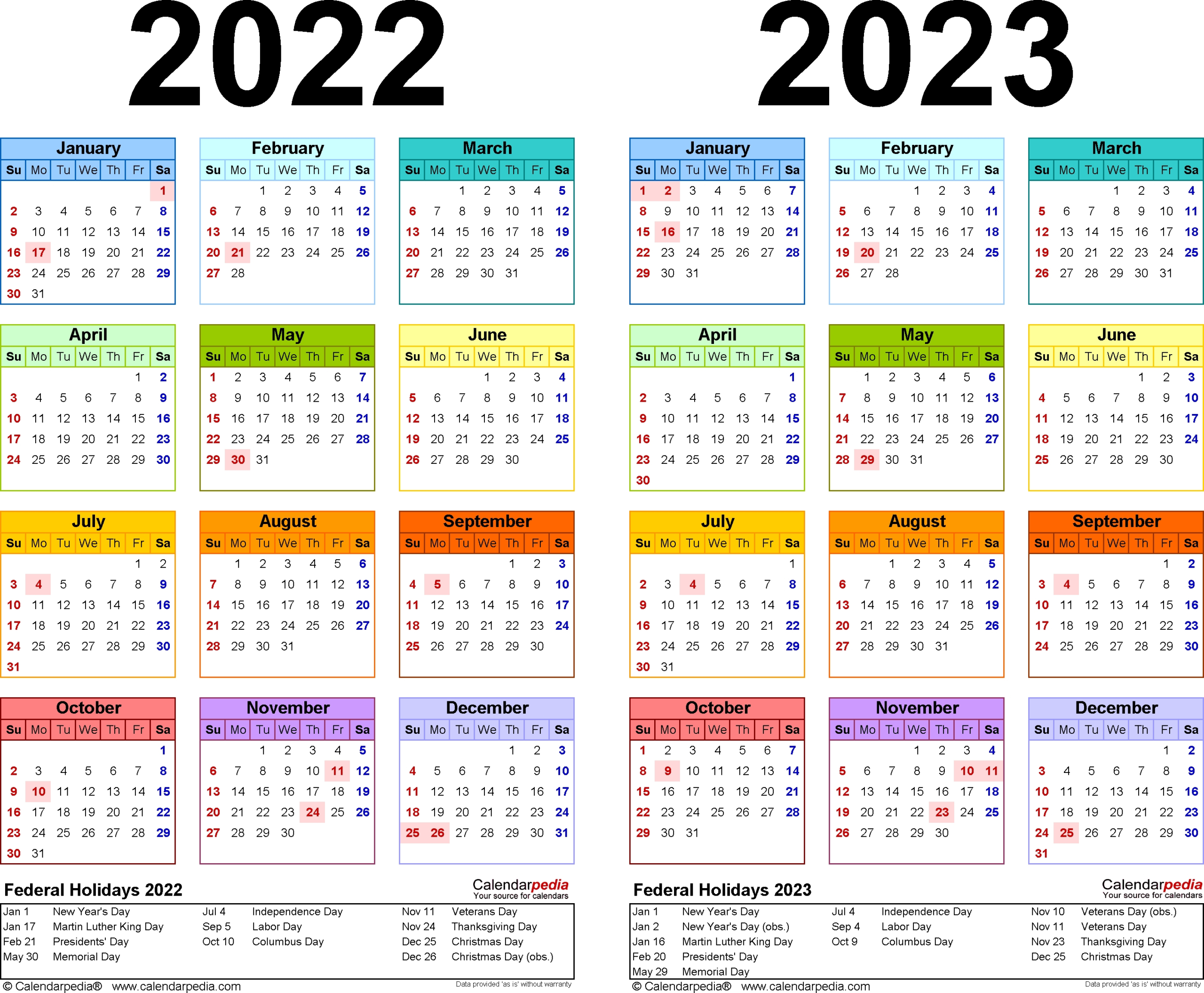 Calendar December 2022 January 2023