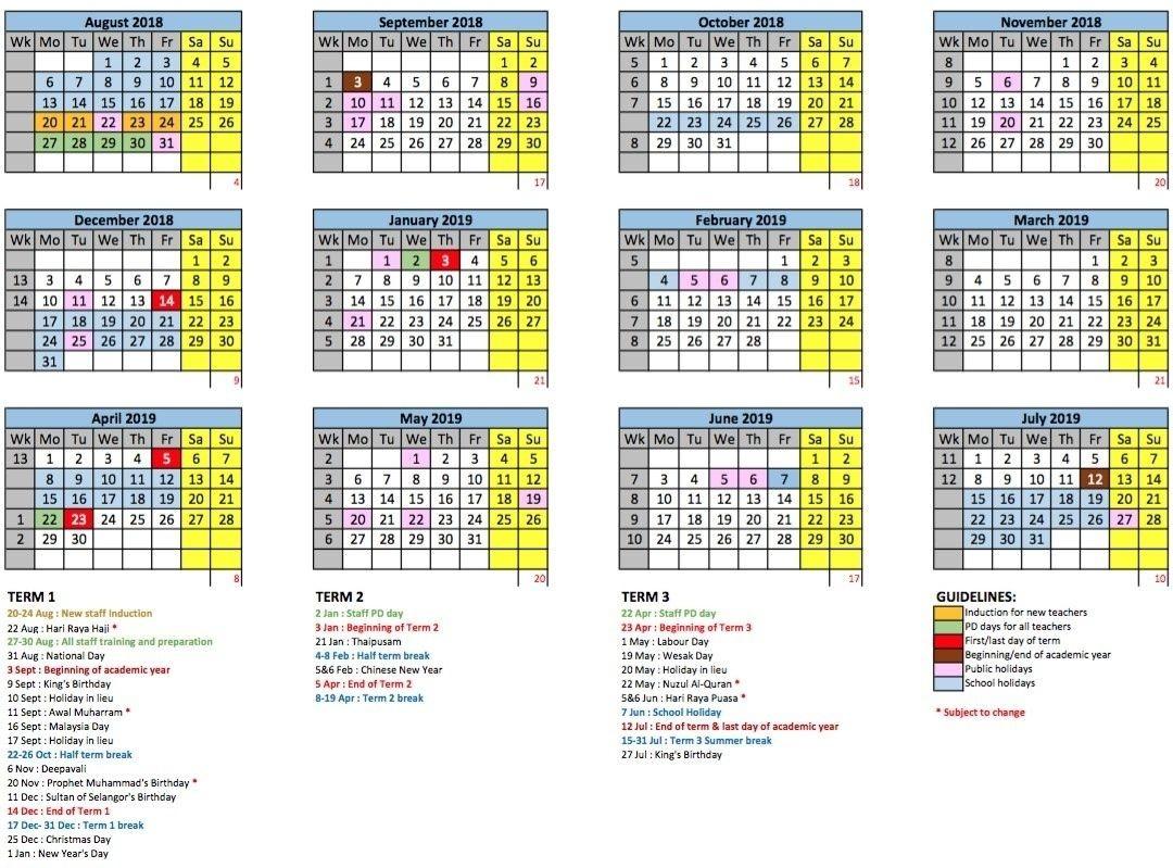 Calendar For Year 2022 Malaysia
