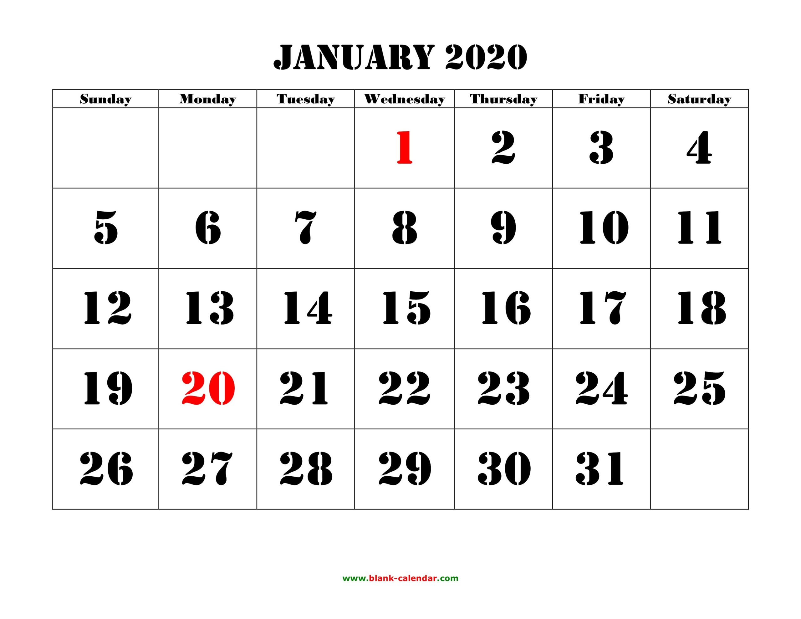 Calendar Printable Free