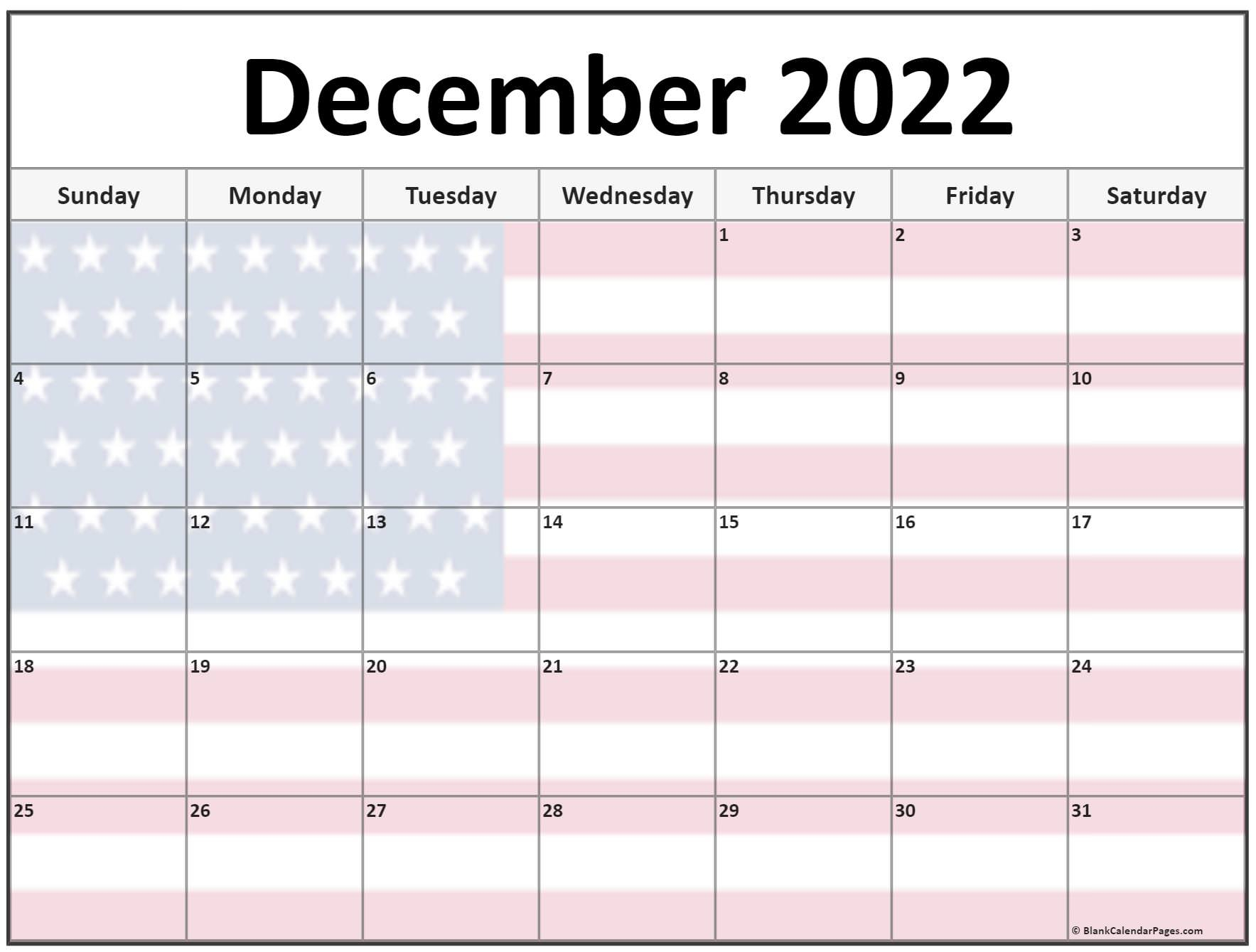 Collection Of December 2022 Photo Calendars With Image