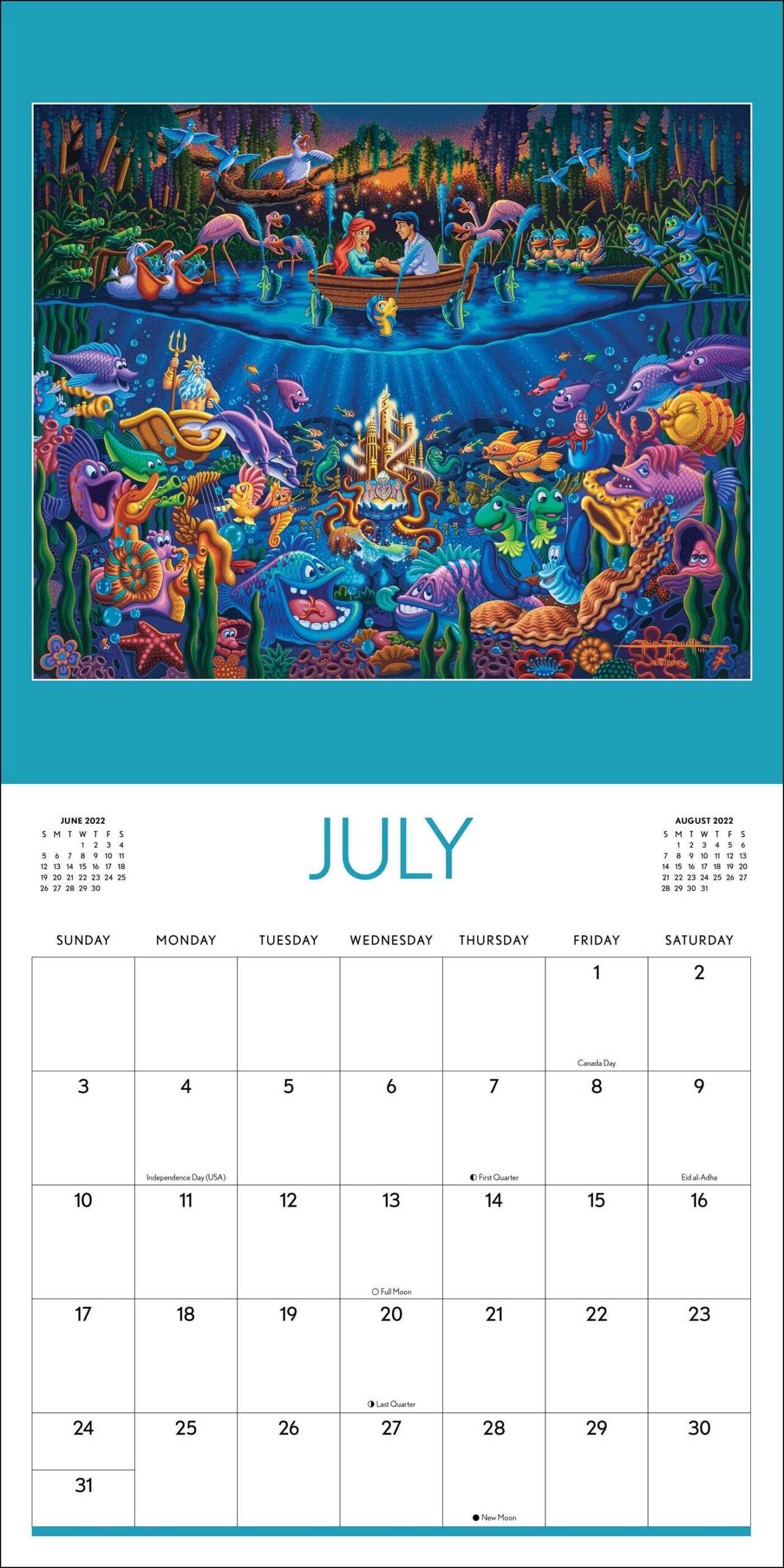 Disney Dowdle 2022 Wall Calendar - Book Summary & Video