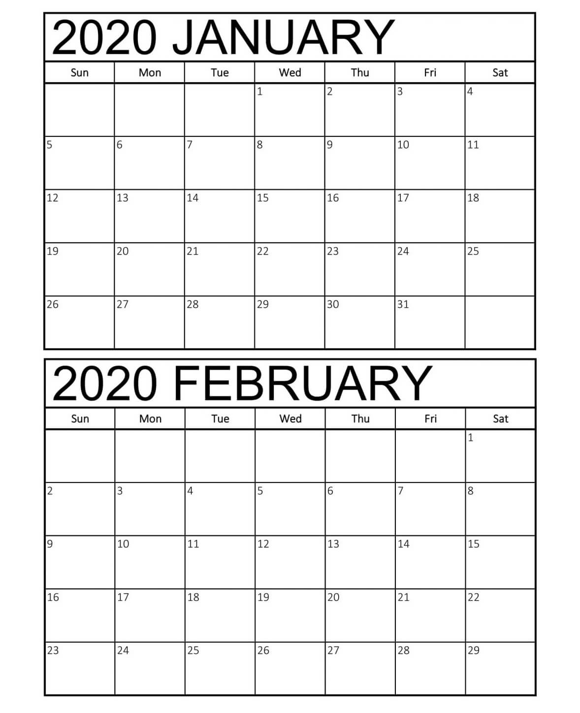February 2020 Calendar Pdf Word Notes Excel Vertex A4 Page
