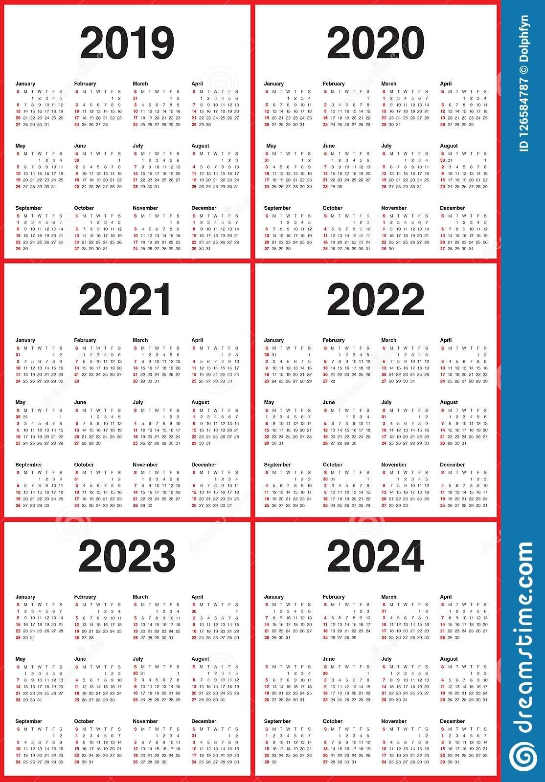 Free 4 Year Calendar Printable