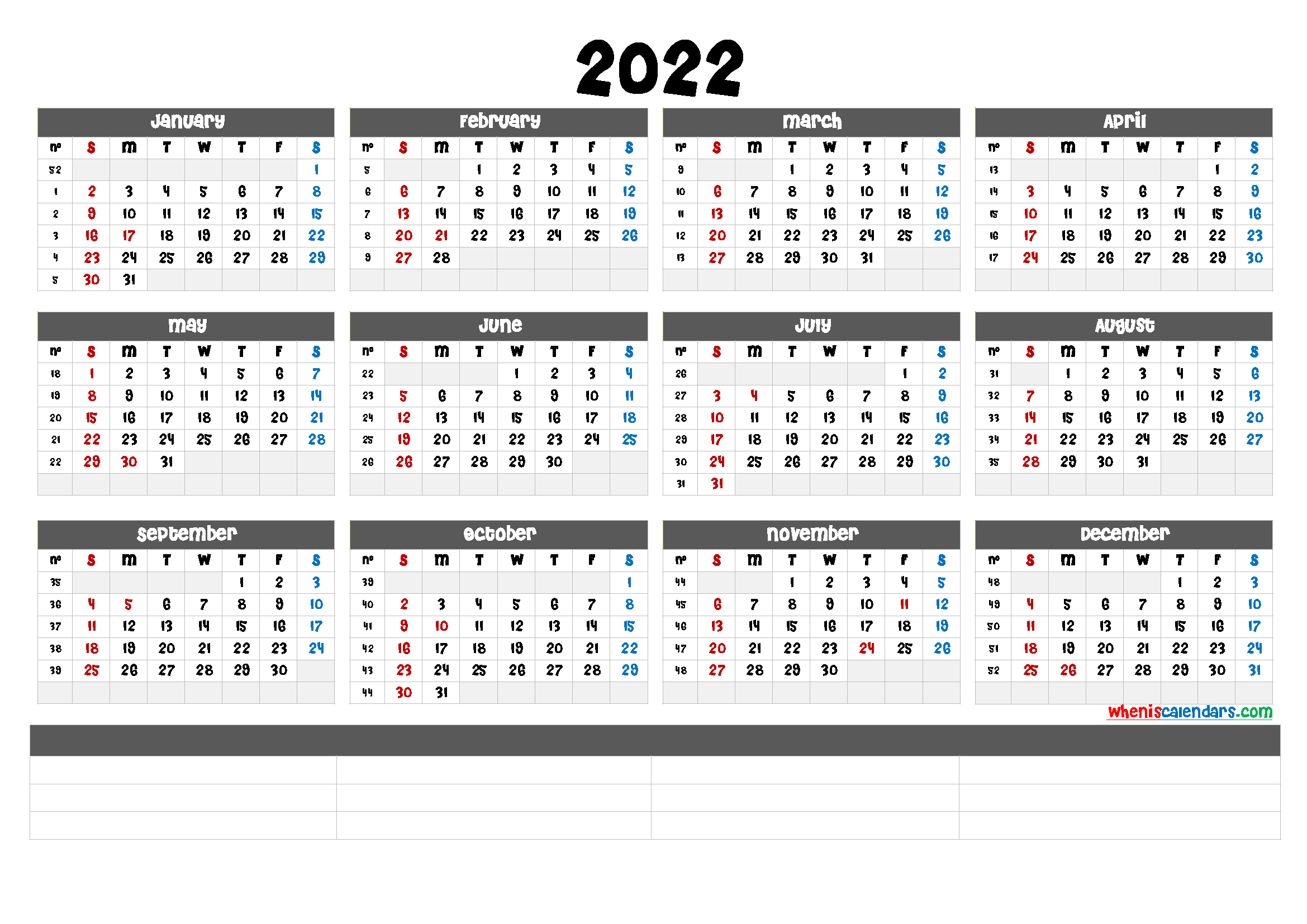 Free Printable 2022 Calendarmonth (6 Templates) - Free Printable 2021 Monthly Calendar With