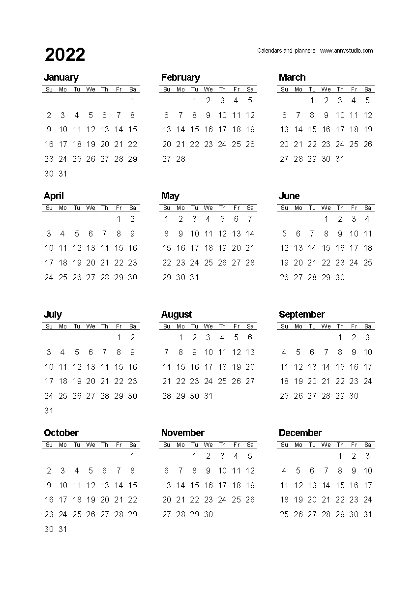 Free Printable Calendar Academic