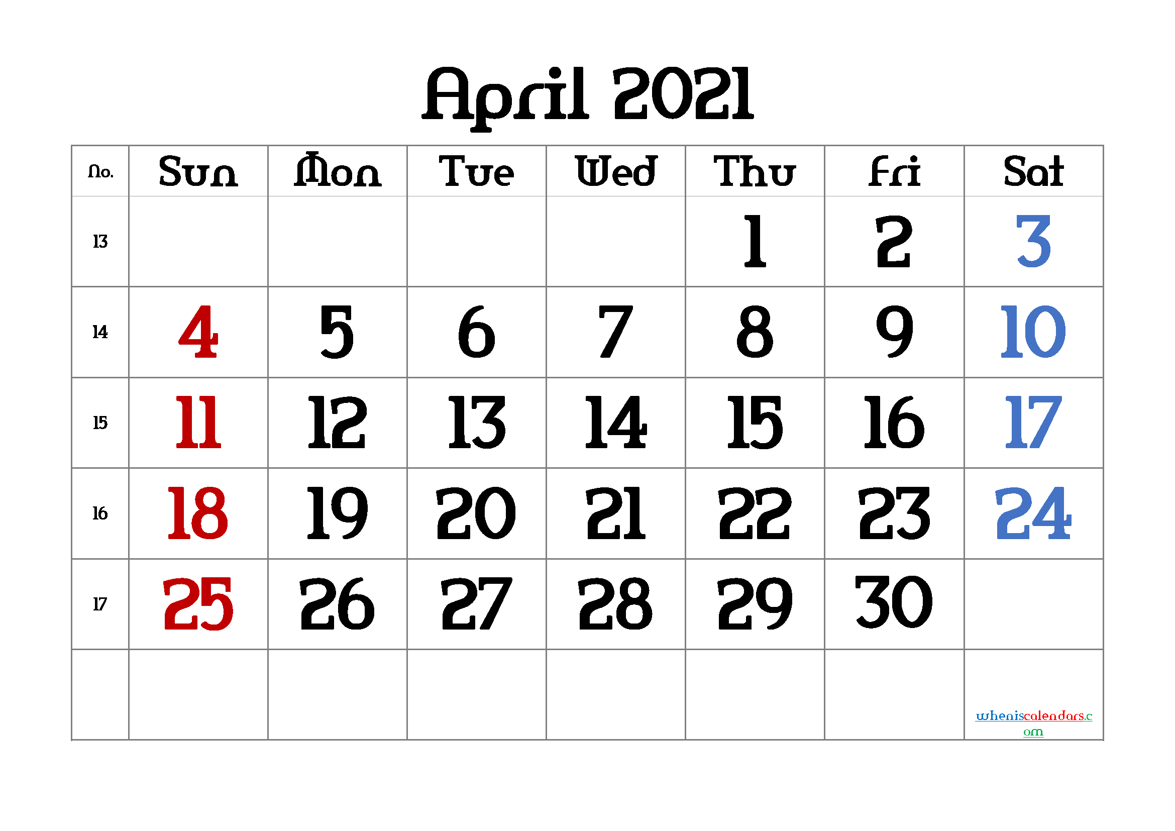 Free Printable Calendar April 2021 2022 And 2023 And More